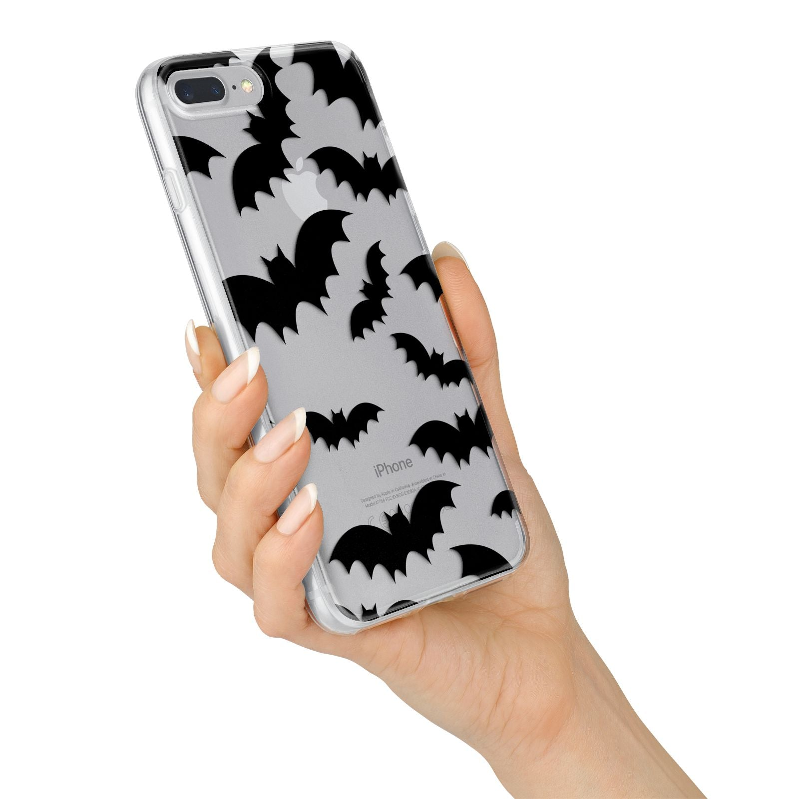 Bat Halloween Print iPhone 7 Plus Bumper Case on Silver iPhone Alternative Image