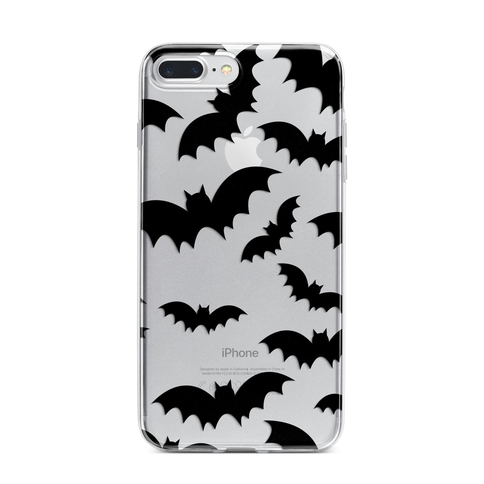 Bat Halloween Print iPhone 7 Plus Bumper Case on Silver iPhone