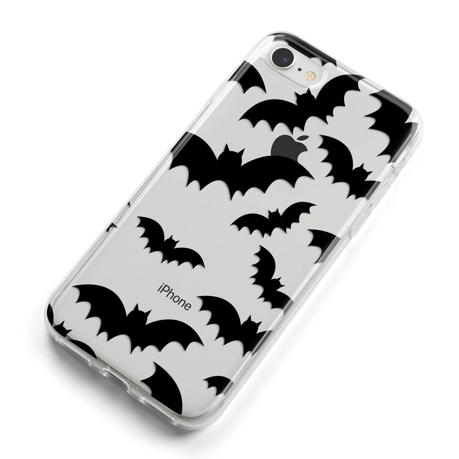Bat Halloween Print iPhone 8 Bumper Case on Silver iPhone Alternative Image