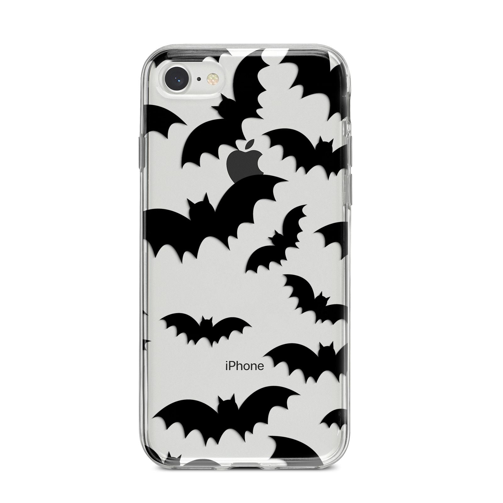 Bat Halloween Print iPhone 8 Bumper Case on Silver iPhone