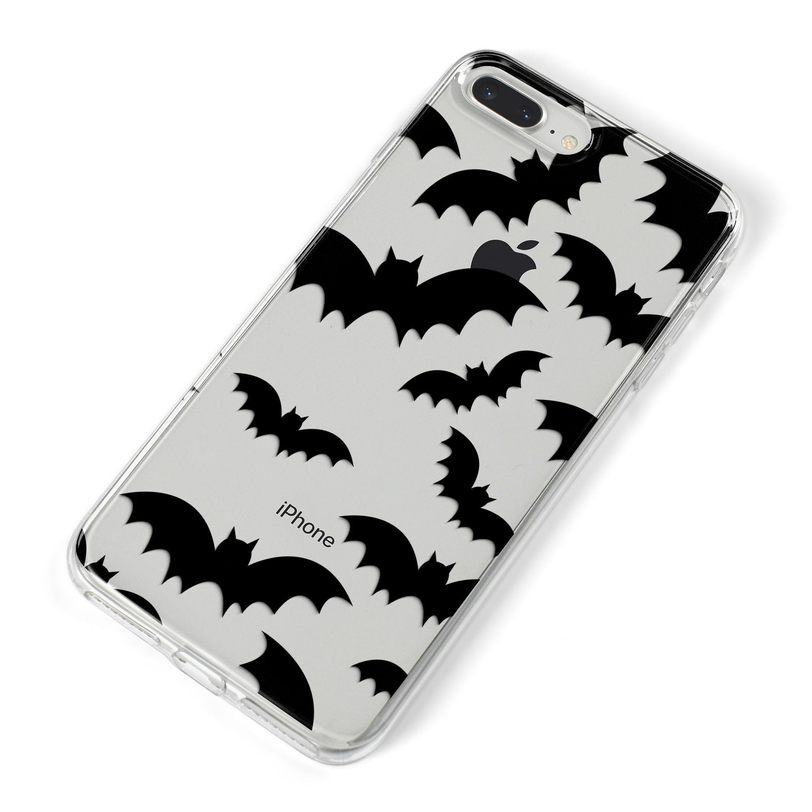 Bat Halloween Print iPhone 8 Plus Bumper Case on Silver iPhone Alternative Image
