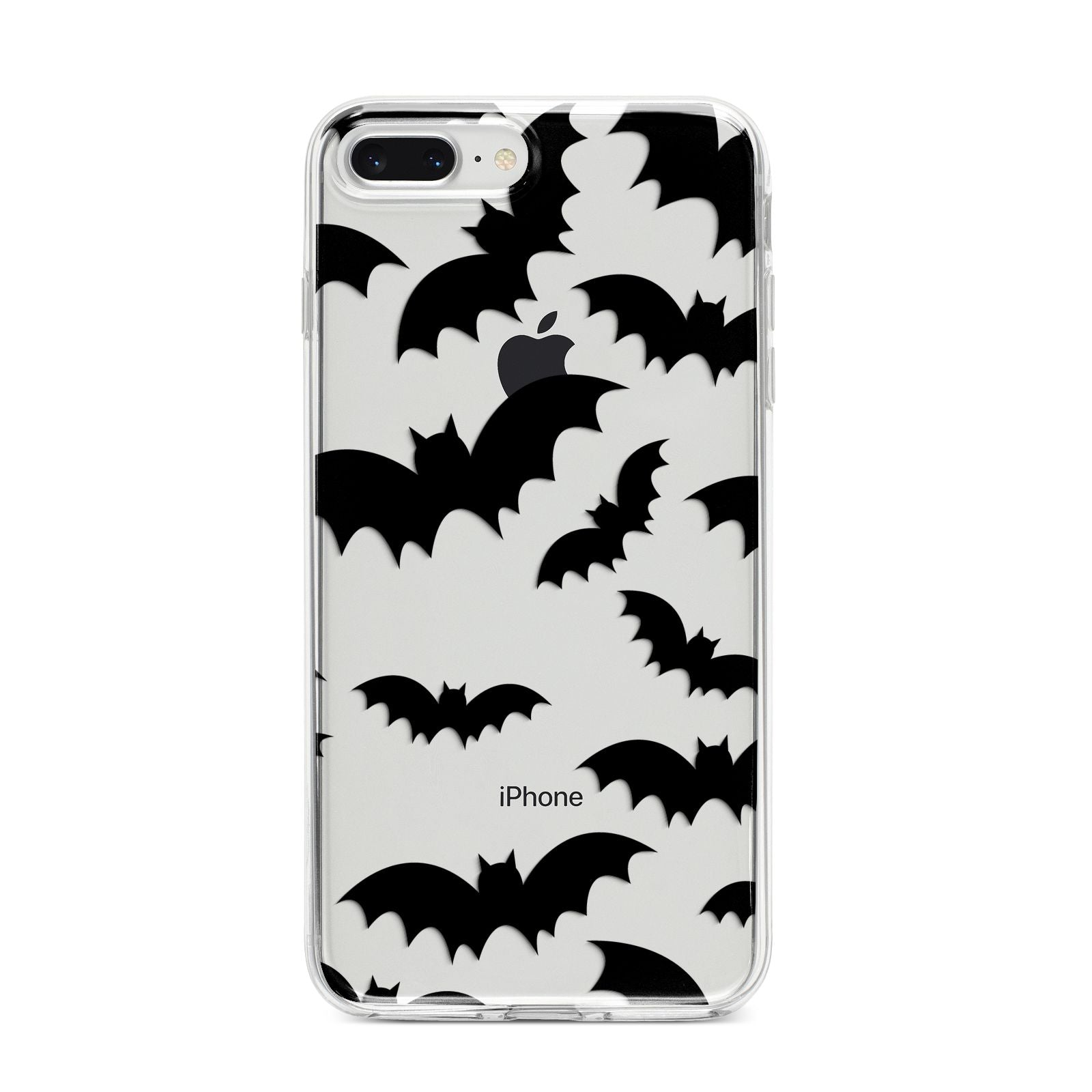 Bat Halloween Print iPhone 8 Plus Bumper Case on Silver iPhone
