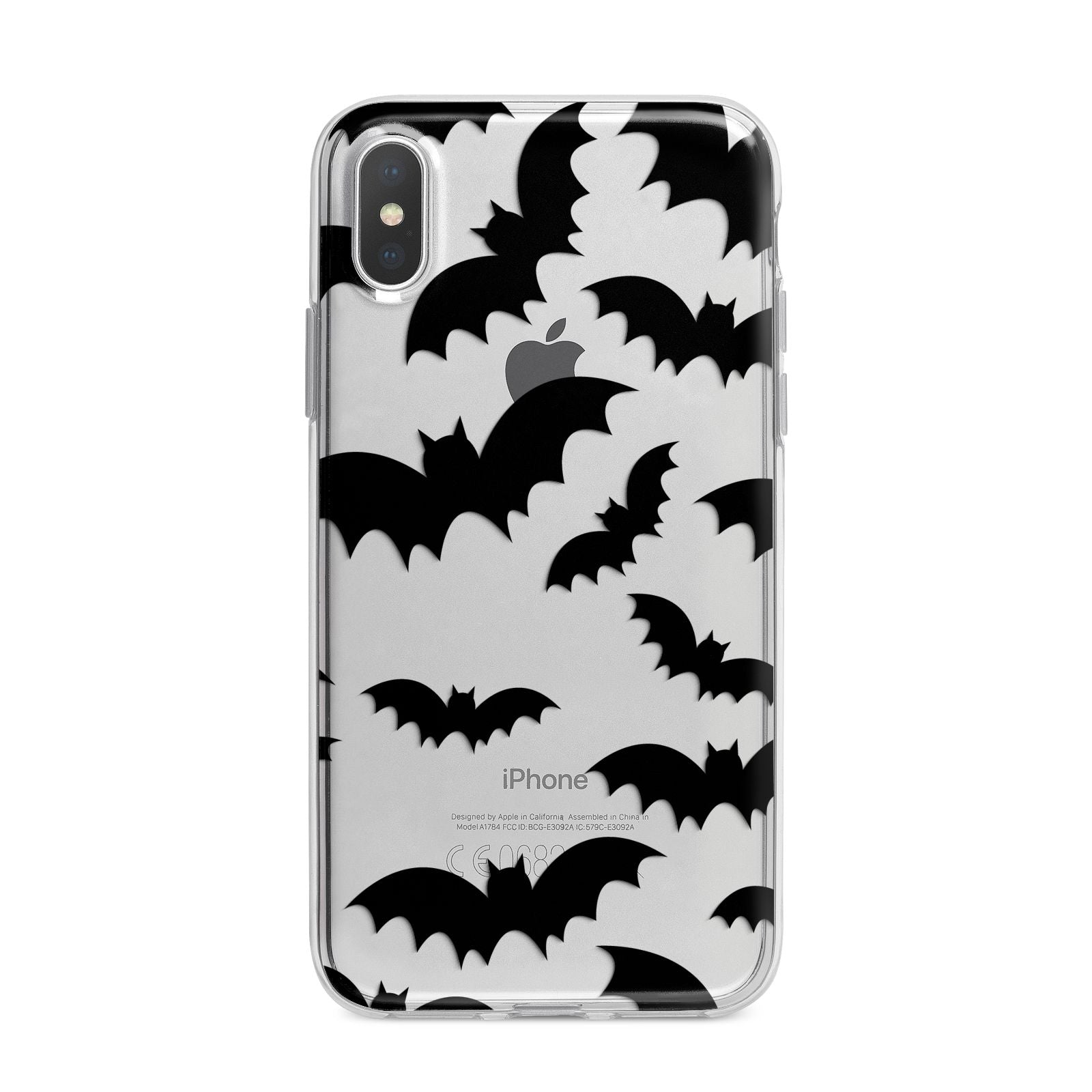 Bat Halloween Print iPhone X Bumper Case on Silver iPhone Alternative Image 1