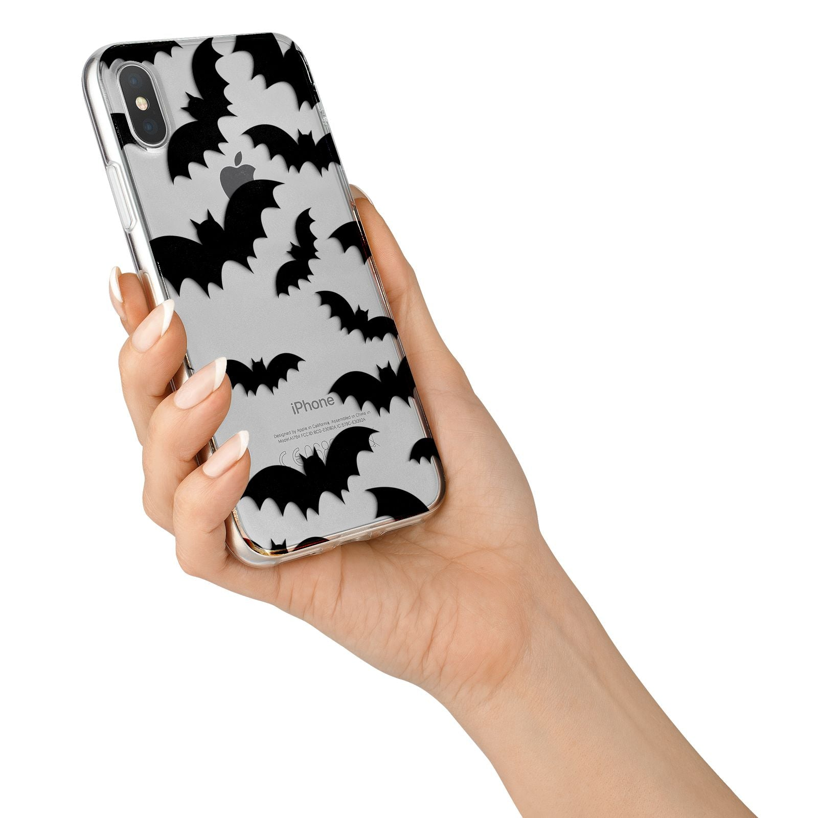 Bat Halloween Print iPhone X Bumper Case on Silver iPhone Alternative Image 2
