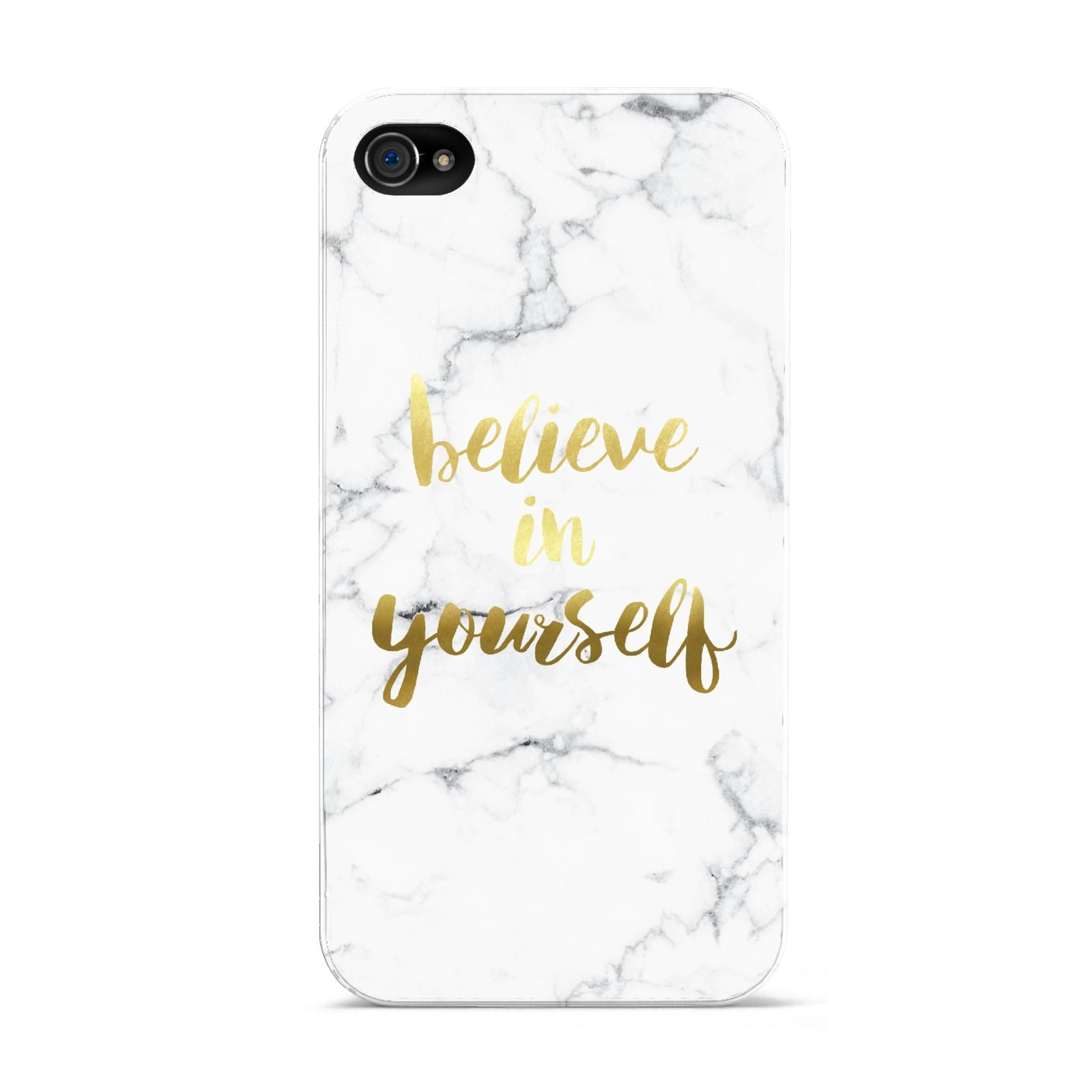 Believe In Yourself Gold Marble Apple iPhone 4s Case