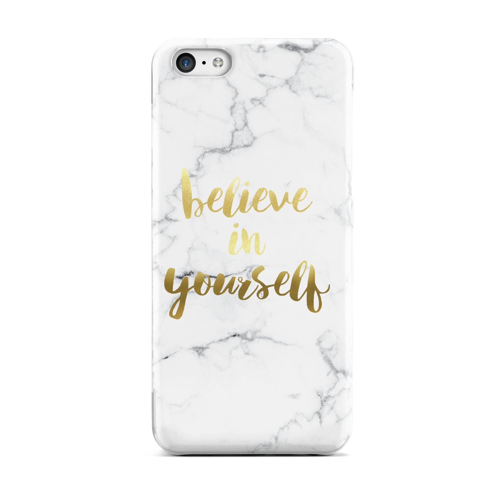 Believe In Yourself Gold Marble Apple iPhone 5c Case