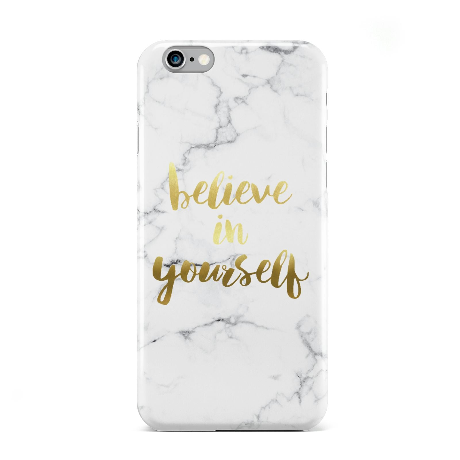 Believe In Yourself Gold Marble Apple iPhone 6 Case