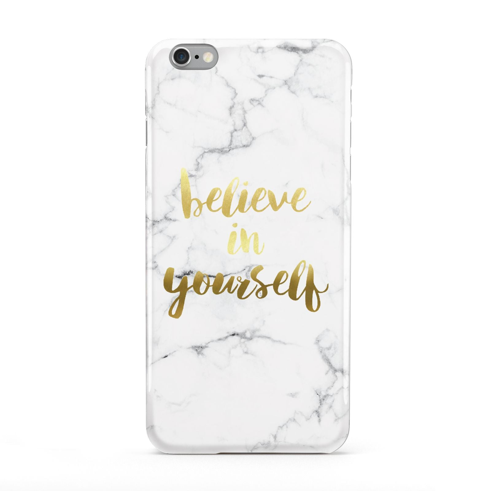 Believe In Yourself Gold Marble Apple iPhone 6 Plus Case