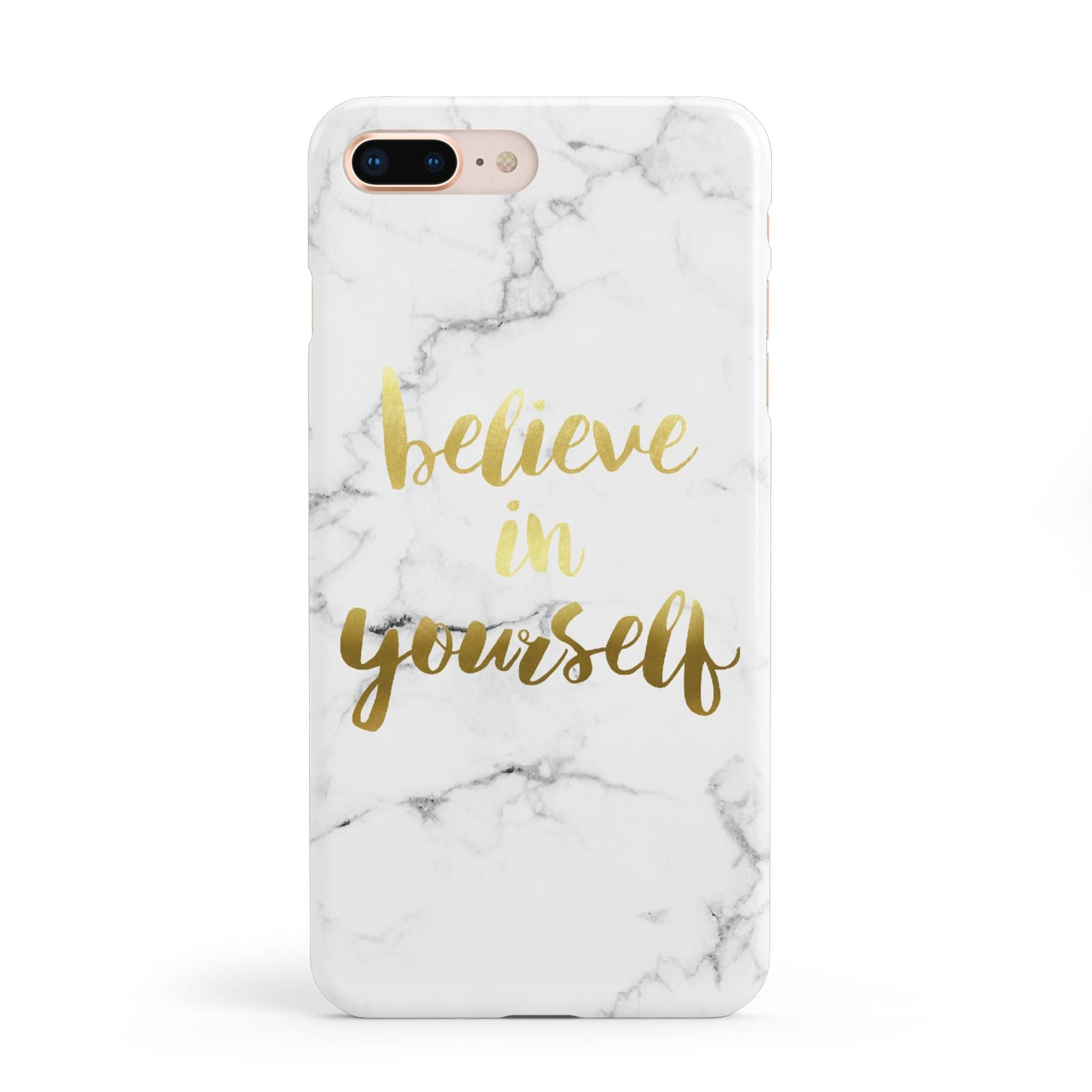 Believe In Yourself Gold Marble Apple iPhone 8 Plus Case