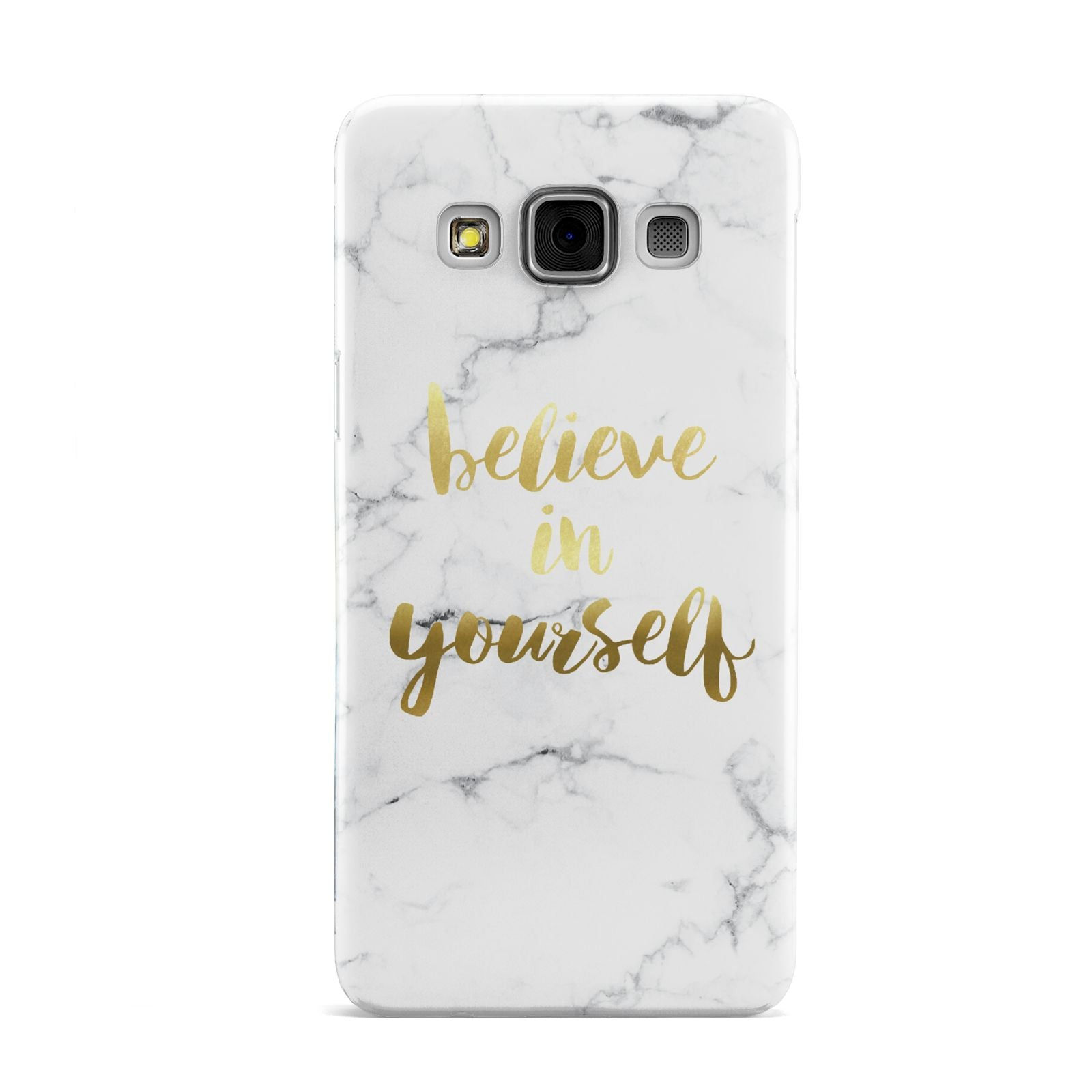 Believe In Yourself Gold Marble Samsung Galaxy A3 Case