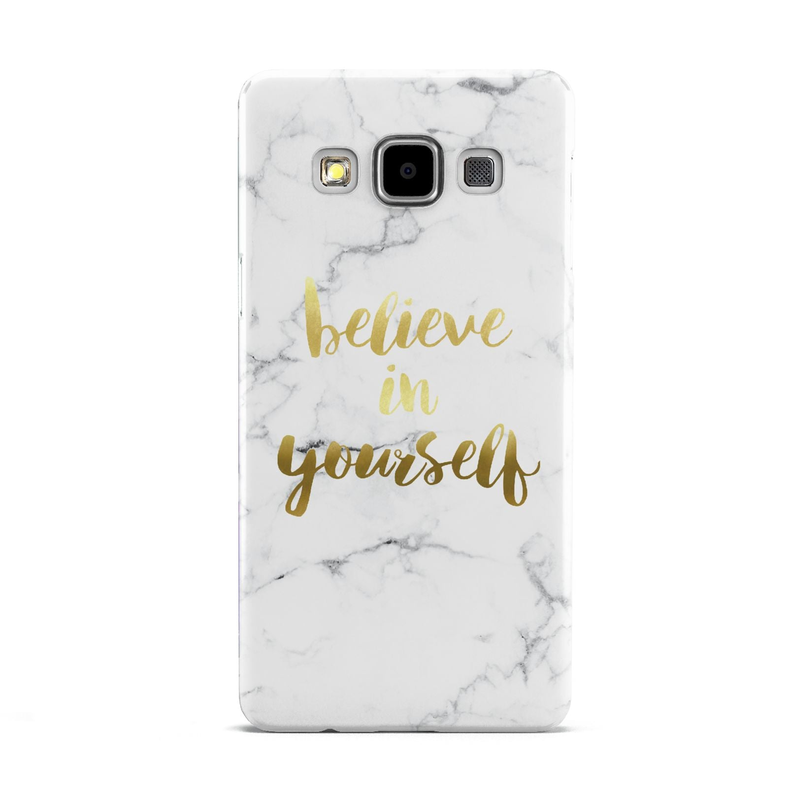 Believe In Yourself Gold Marble Samsung Galaxy A5 Case