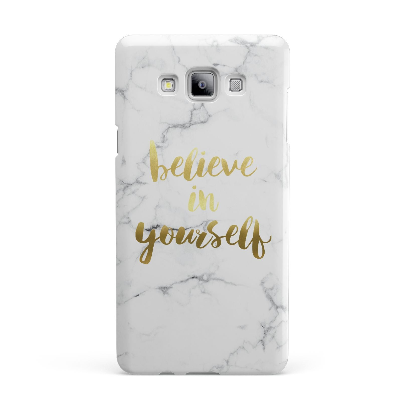 Believe In Yourself Gold Marble Samsung Galaxy A7 2015 Case