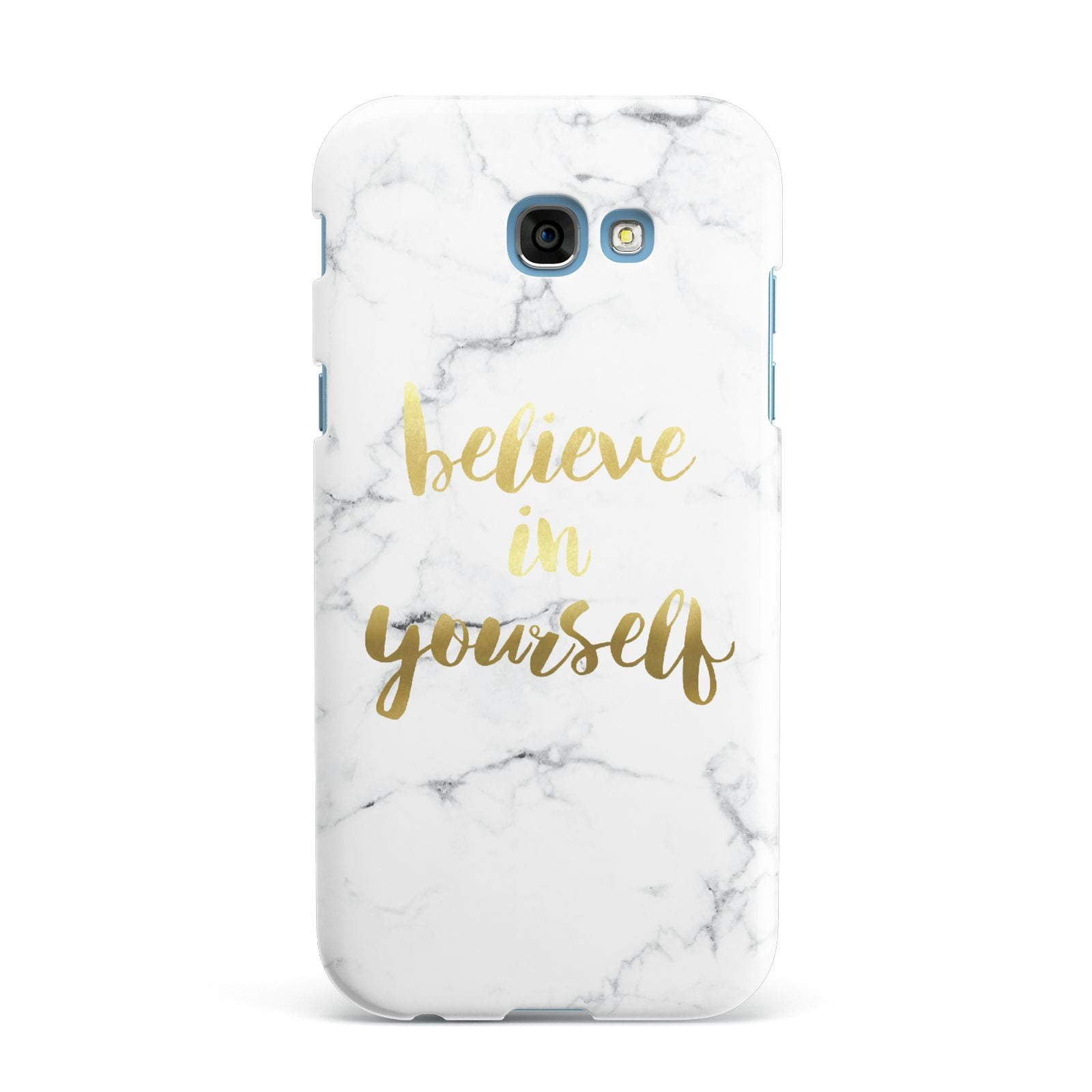 Believe In Yourself Gold Marble Samsung Galaxy A7 2017 Case