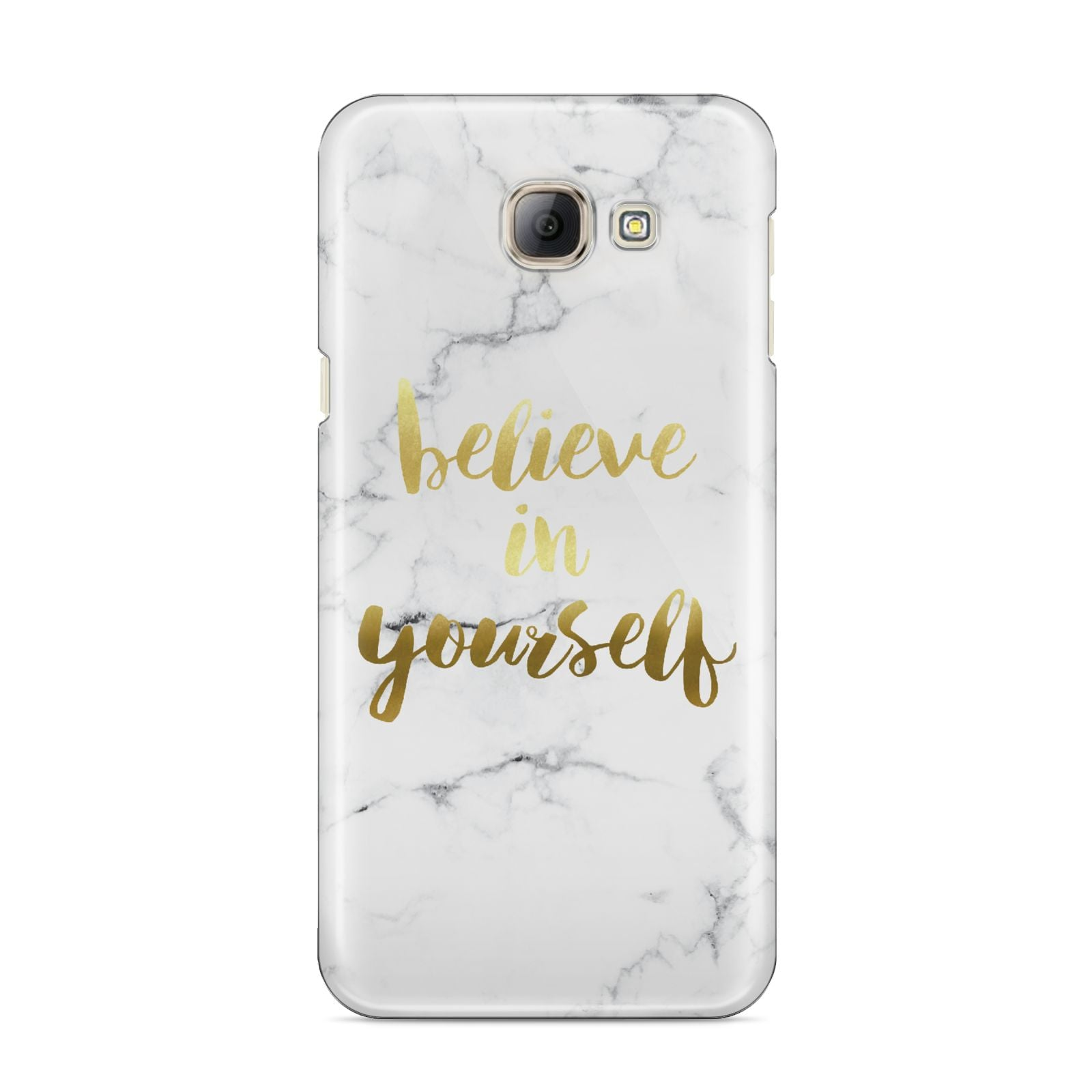 Believe In Yourself Gold Marble Samsung Galaxy A8 2016 Case