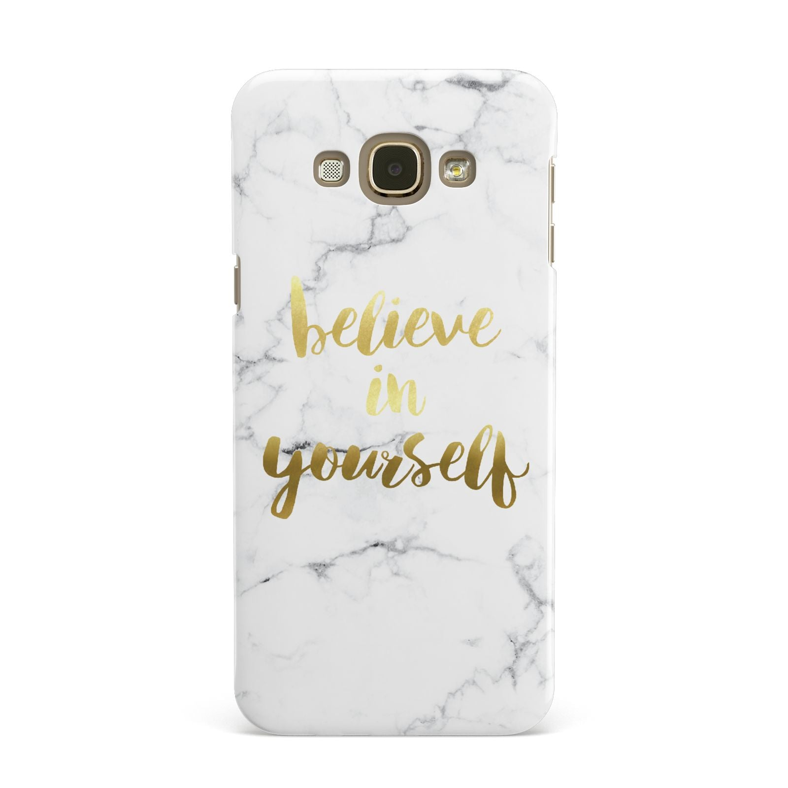 Believe In Yourself Gold Marble Samsung Galaxy A8 Case
