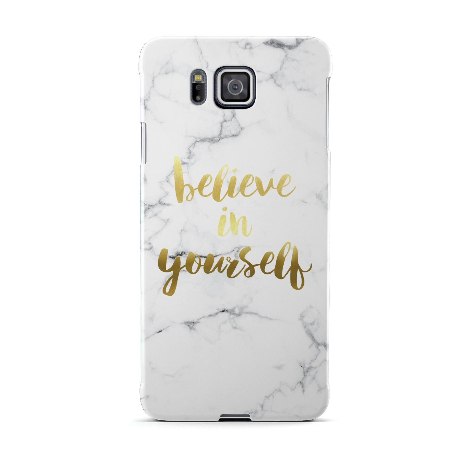 Believe In Yourself Gold Marble Samsung Galaxy Alpha Case