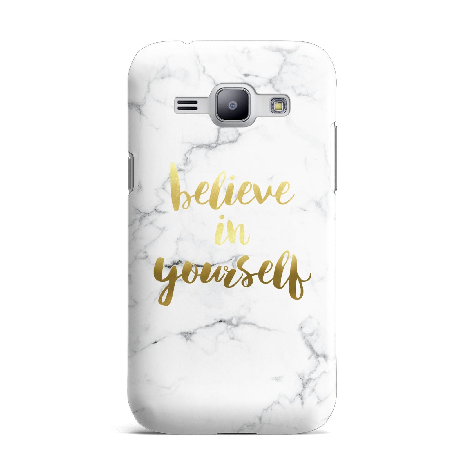 Believe In Yourself Gold Marble Samsung Galaxy J1 2015 Case