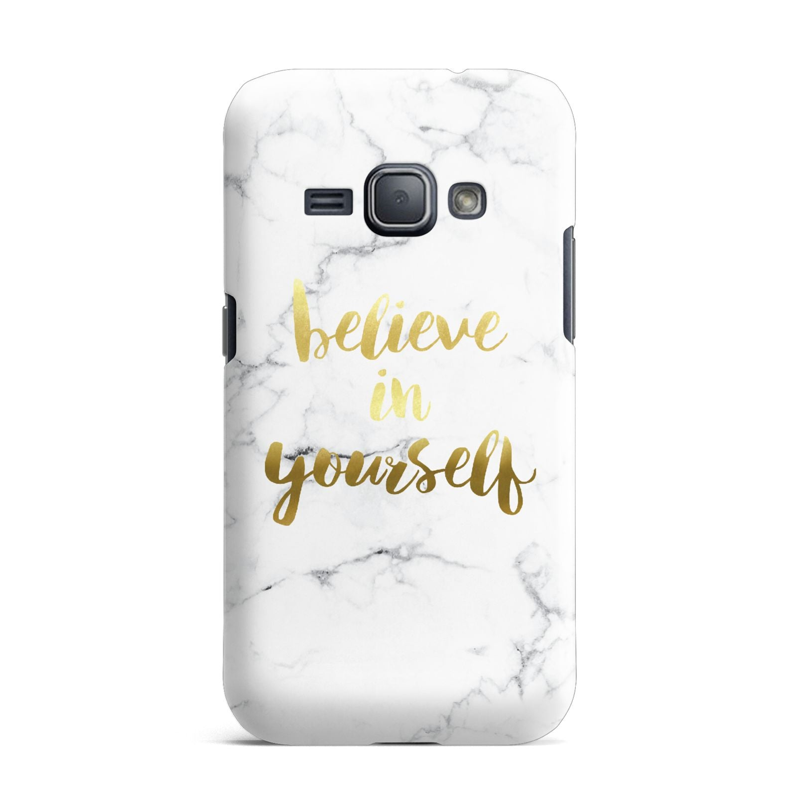 Believe In Yourself Gold Marble Samsung Galaxy J1 2016 Case