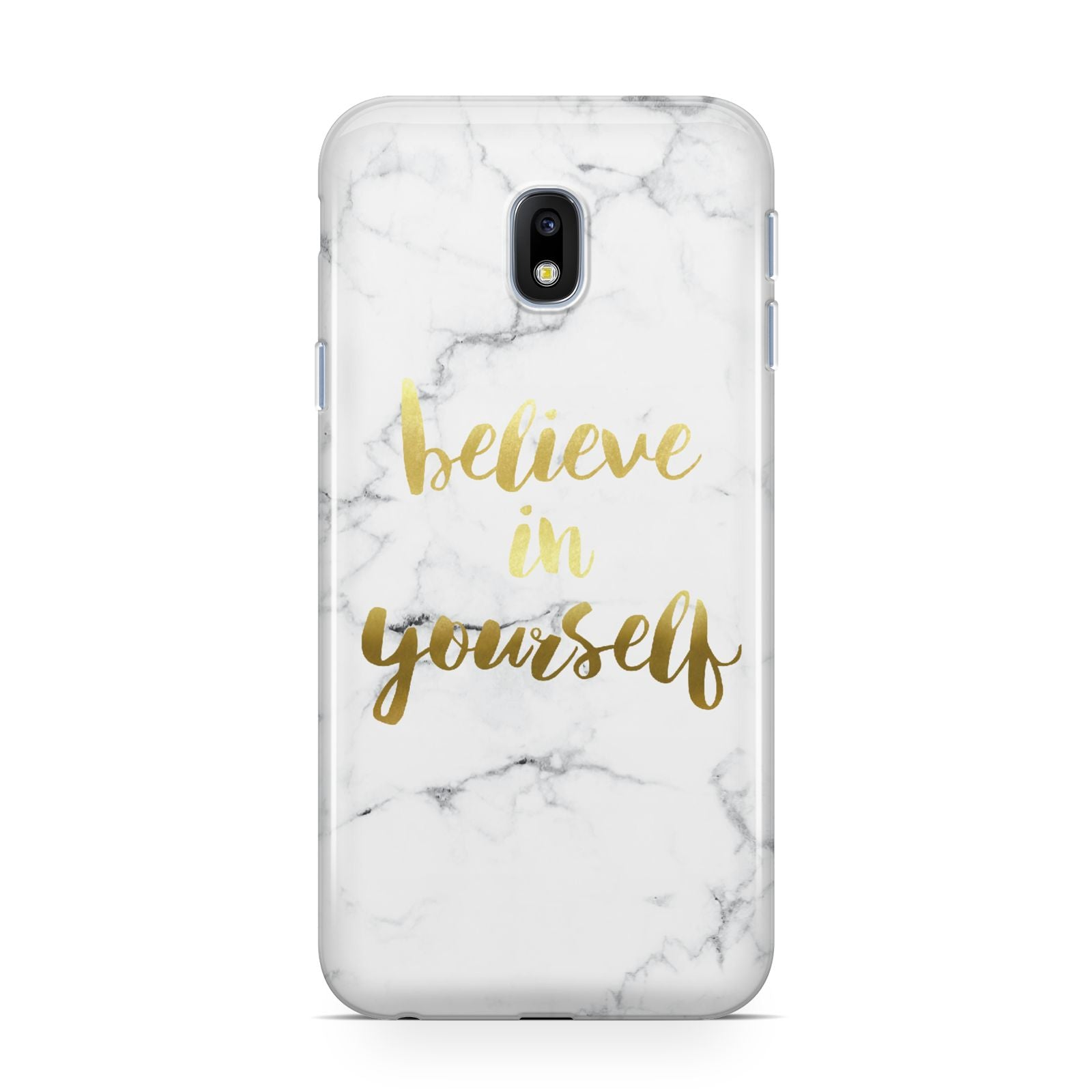 Believe In Yourself Gold Marble Samsung Galaxy J3 2017 Case
