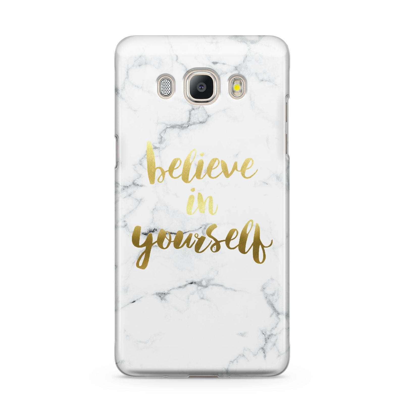 Believe In Yourself Gold Marble Samsung Galaxy J5 2016 Case