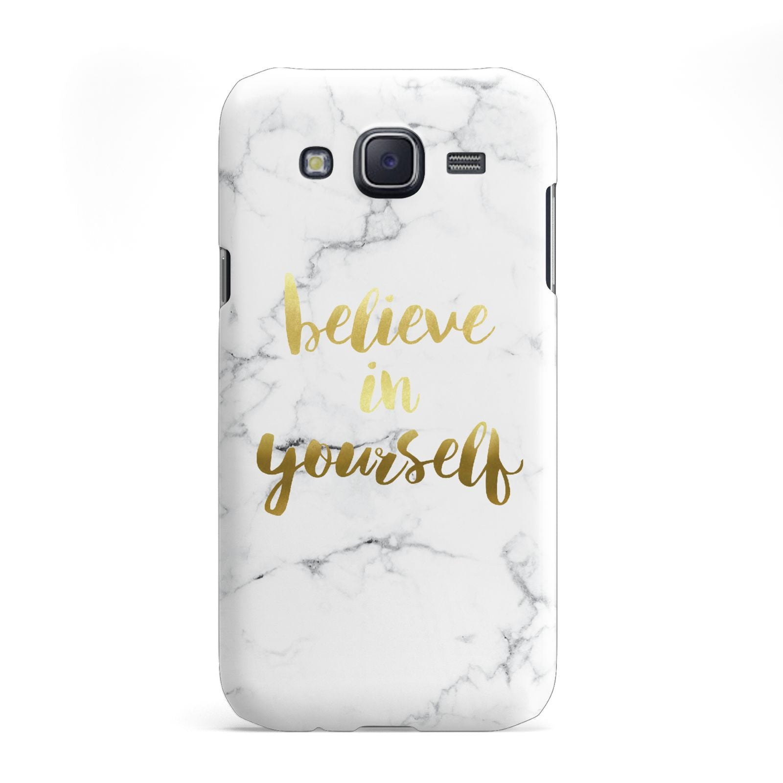 Believe In Yourself Gold Marble Samsung Galaxy J5 Case