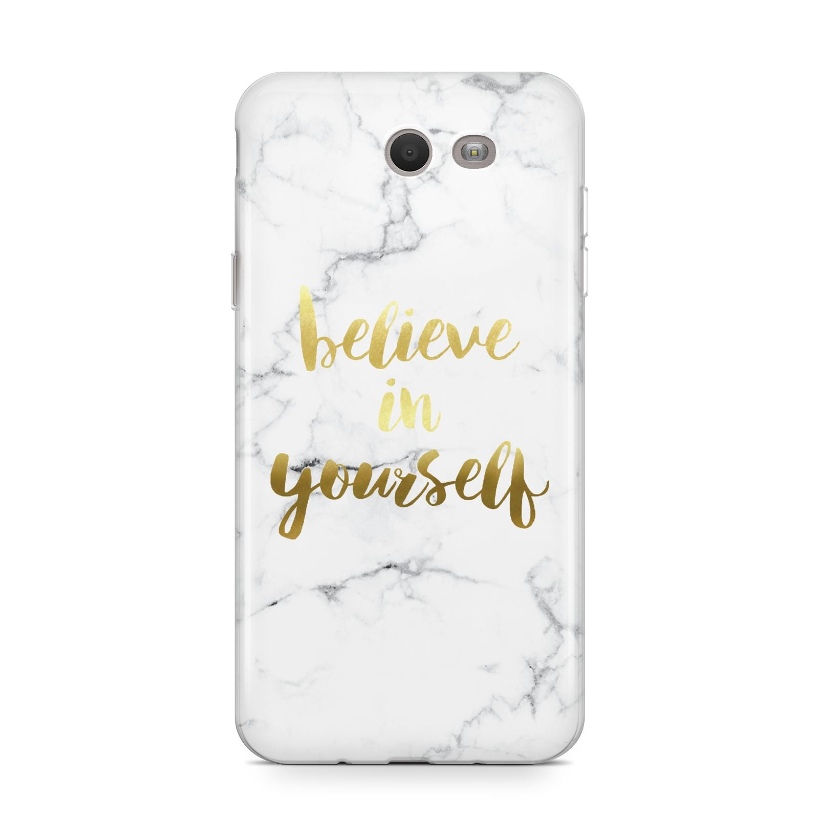 Believe In Yourself Gold Marble Samsung Galaxy J7 2017 Case