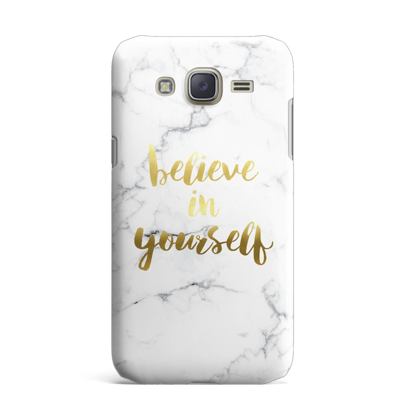 Believe In Yourself Gold Marble Samsung Galaxy J7 Case