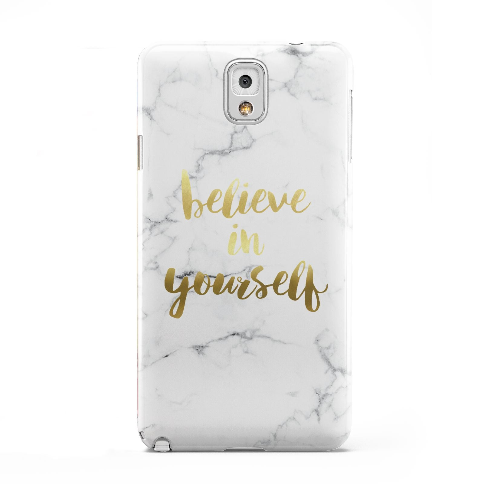 Believe In Yourself Gold Marble Samsung Galaxy Note 3 Case