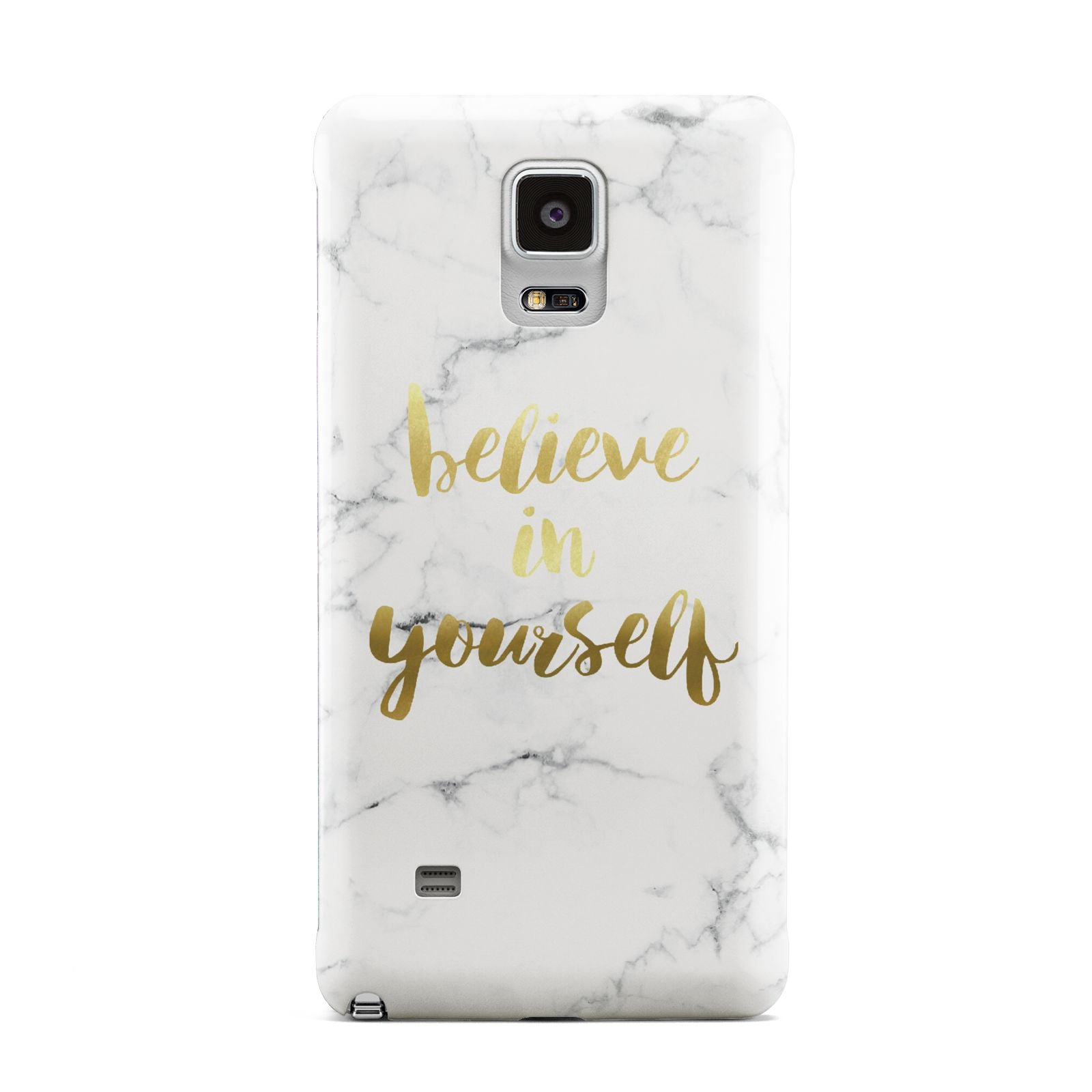 Believe In Yourself Gold Marble Samsung Galaxy Note 4 Case
