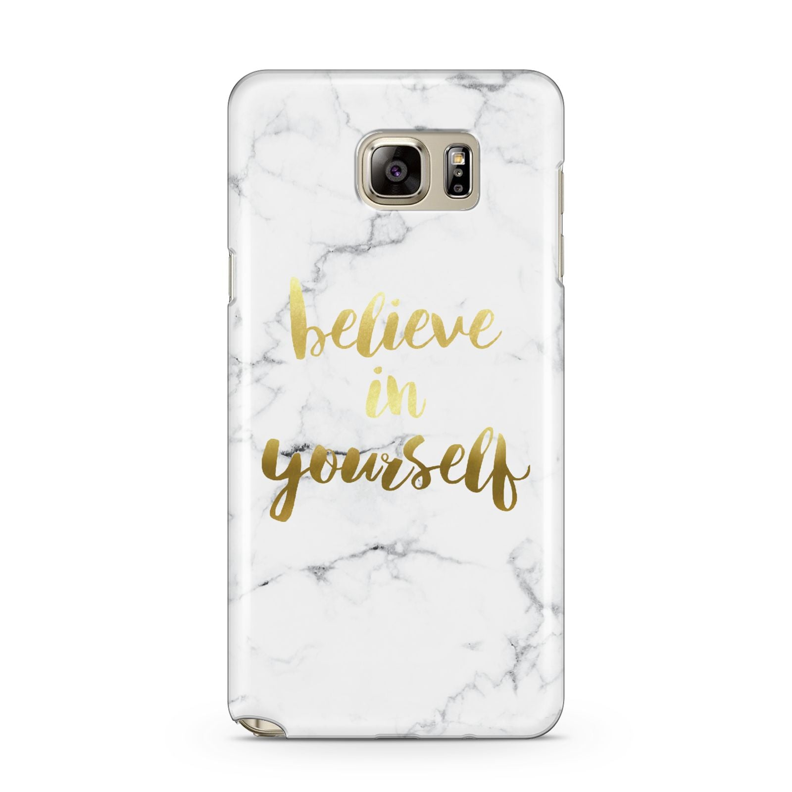 Believe In Yourself Gold Marble Samsung Galaxy Note 5 Case