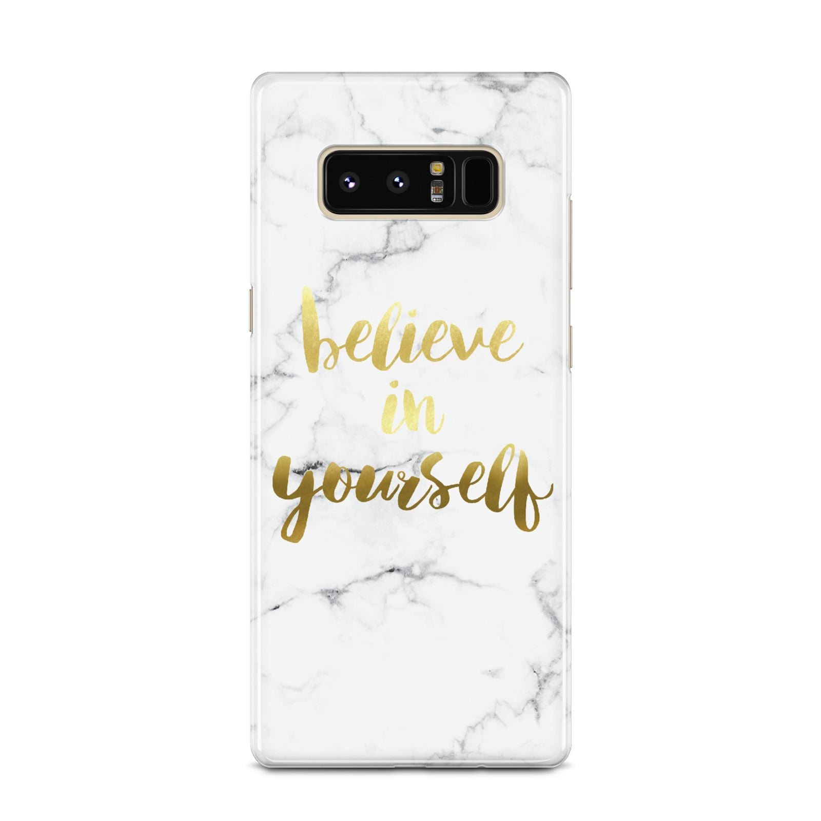 Believe In Yourself Gold Marble Samsung Galaxy Note 8 Case