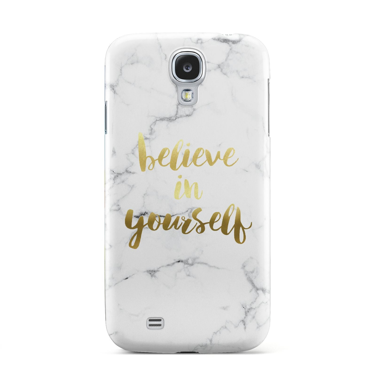 Believe In Yourself Gold Marble Samsung Galaxy S4 Case
