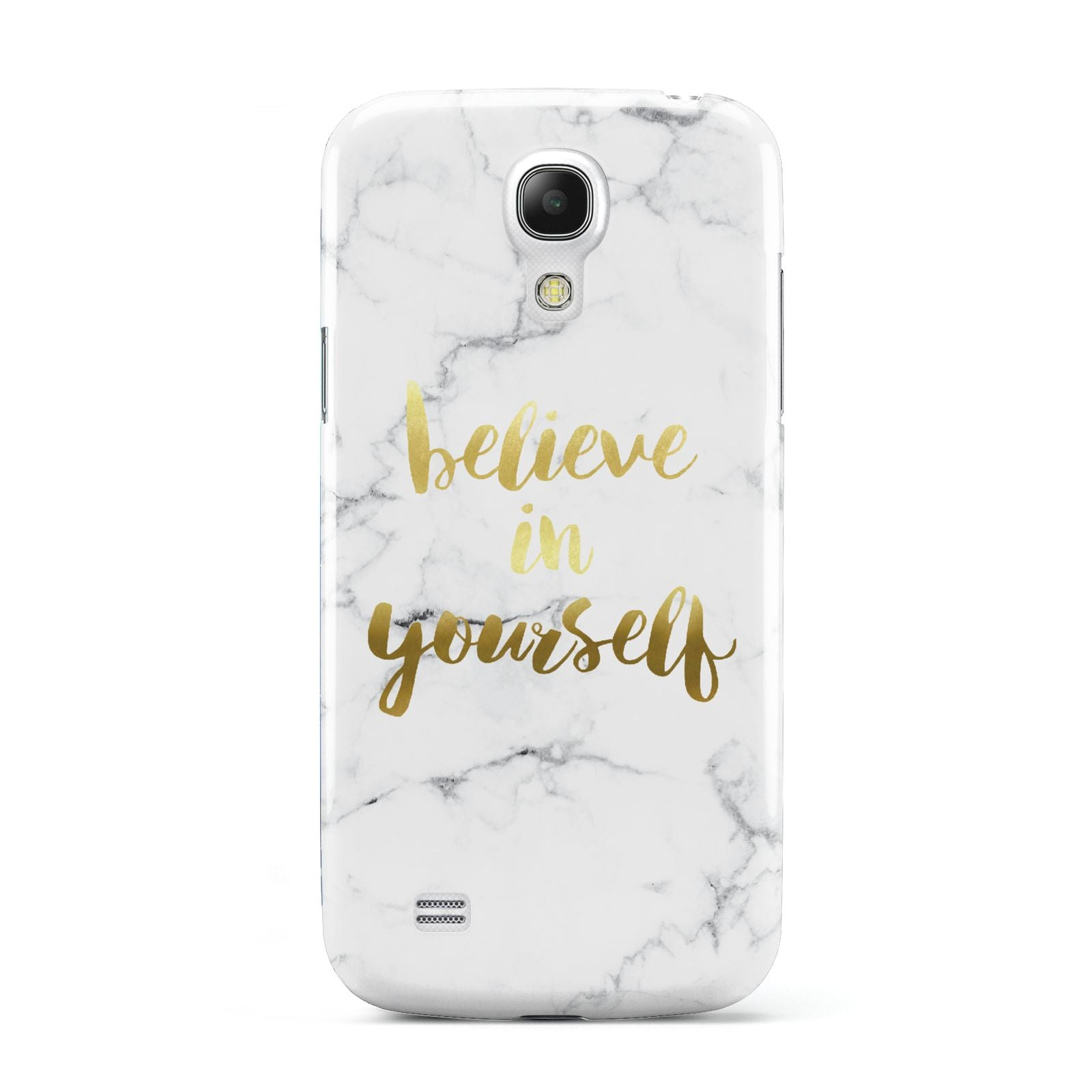 Believe In Yourself Gold Marble Samsung Galaxy S4 Mini Case