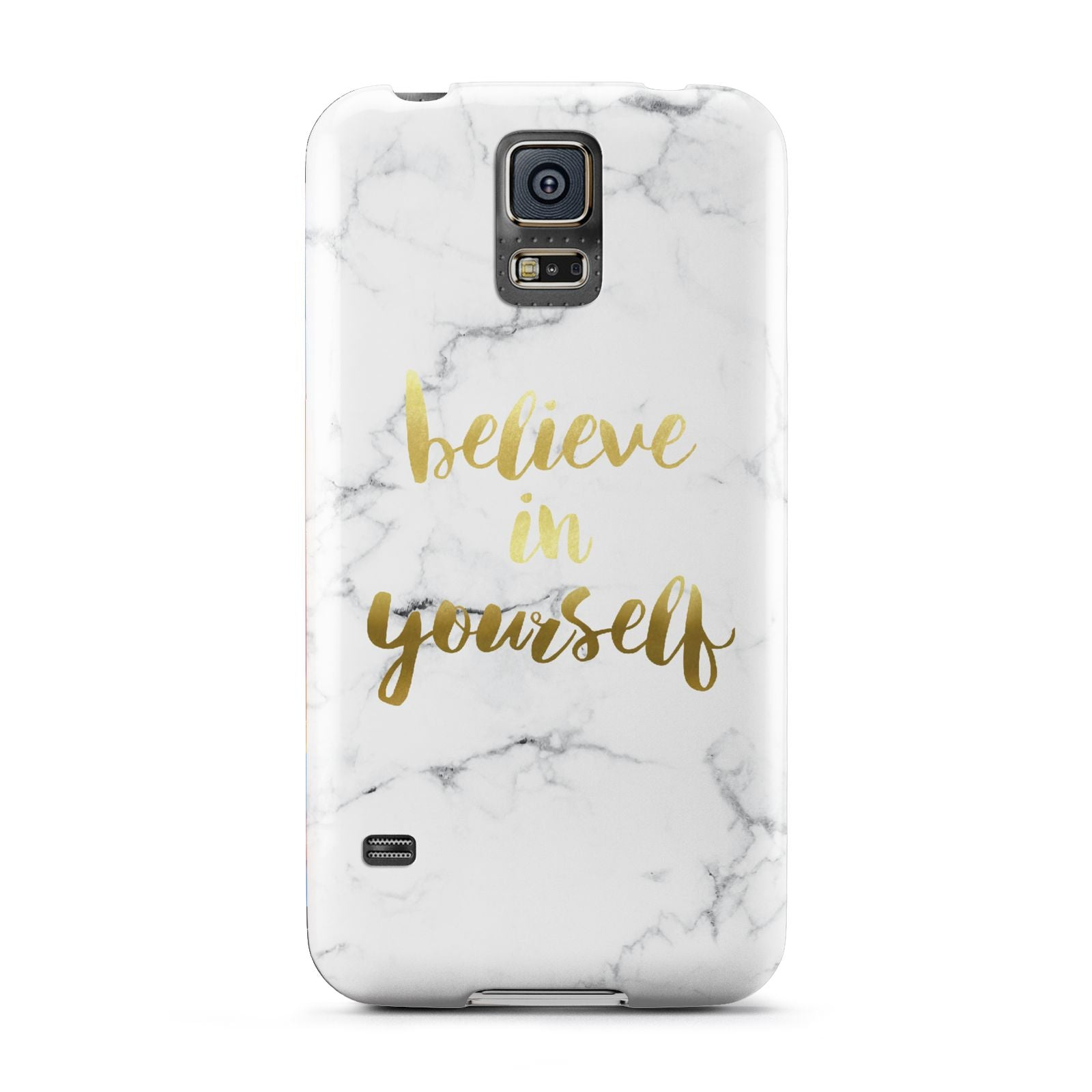 Believe In Yourself Gold Marble Samsung Galaxy S5 Case