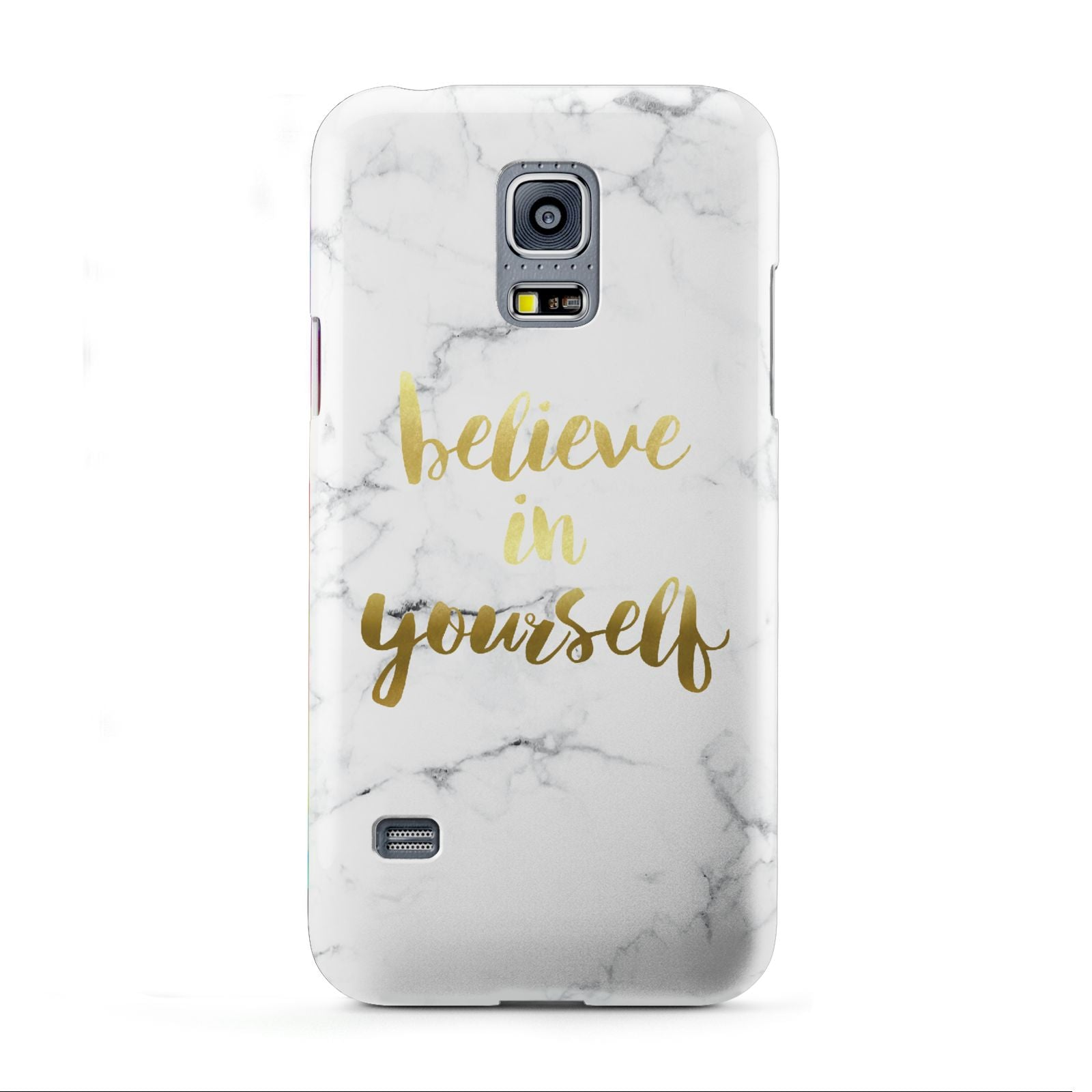 Believe In Yourself Gold Marble Samsung Galaxy S5 Mini Case