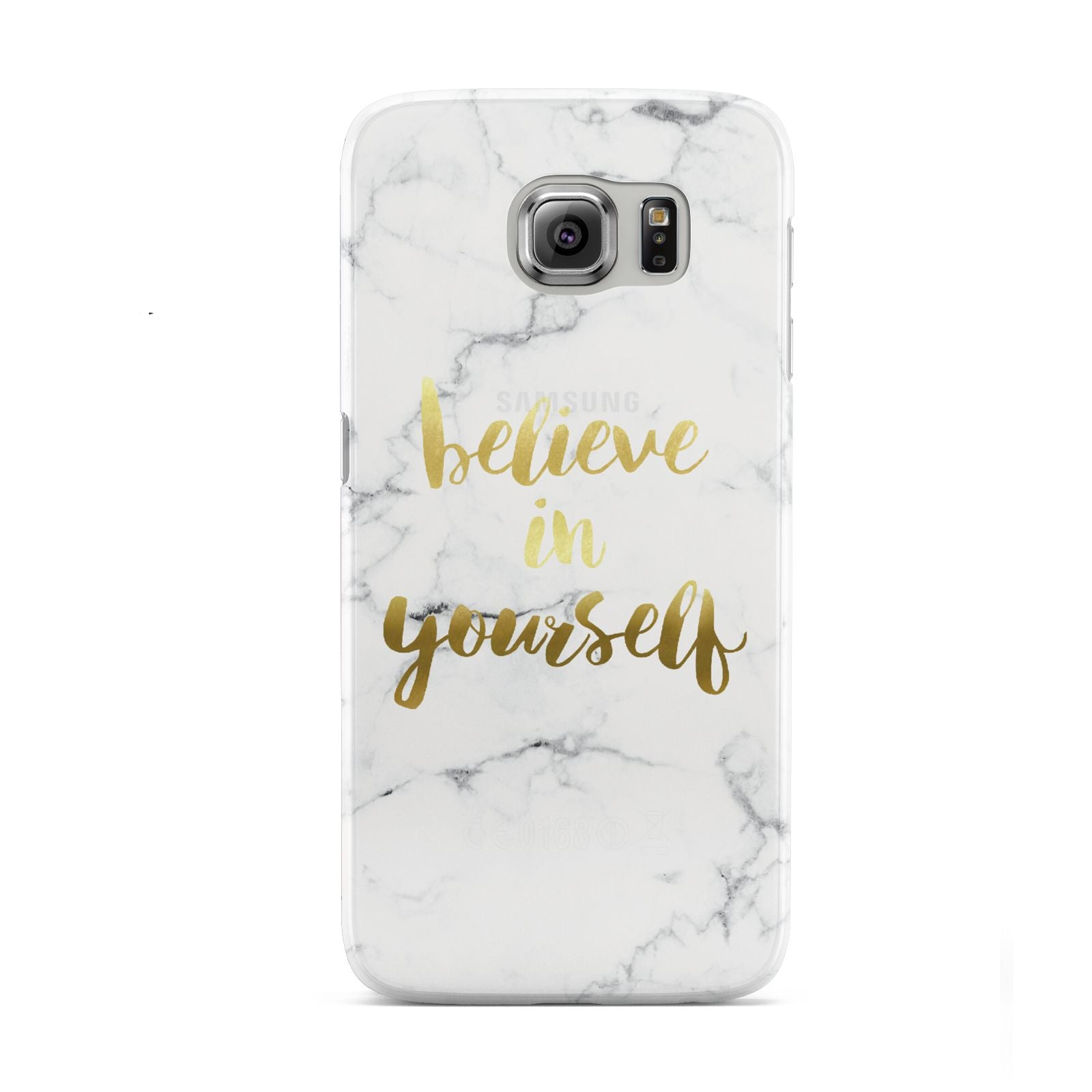 Believe In Yourself Gold Marble Samsung Galaxy S6 Case