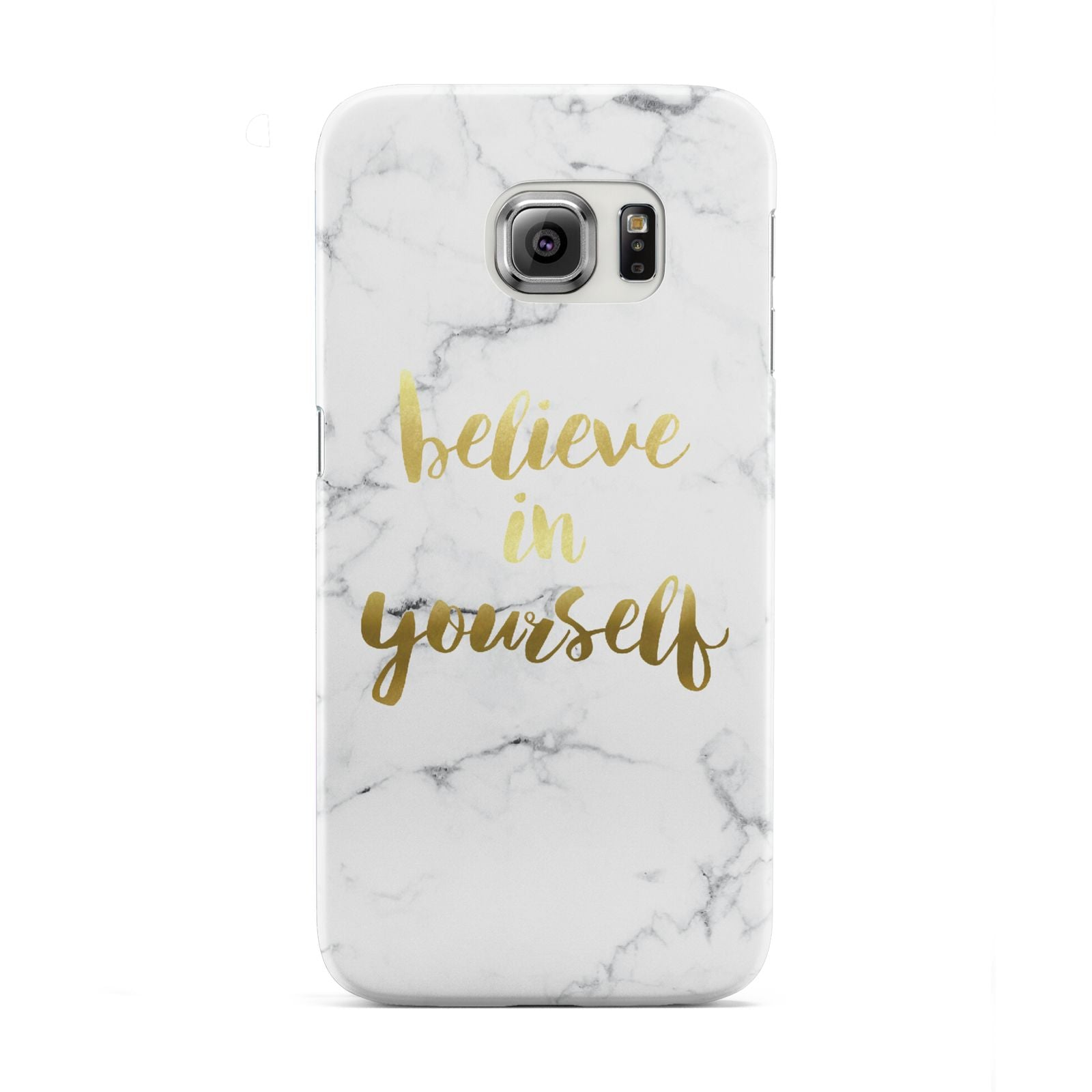 Believe In Yourself Gold Marble Samsung Galaxy S6 Edge Case