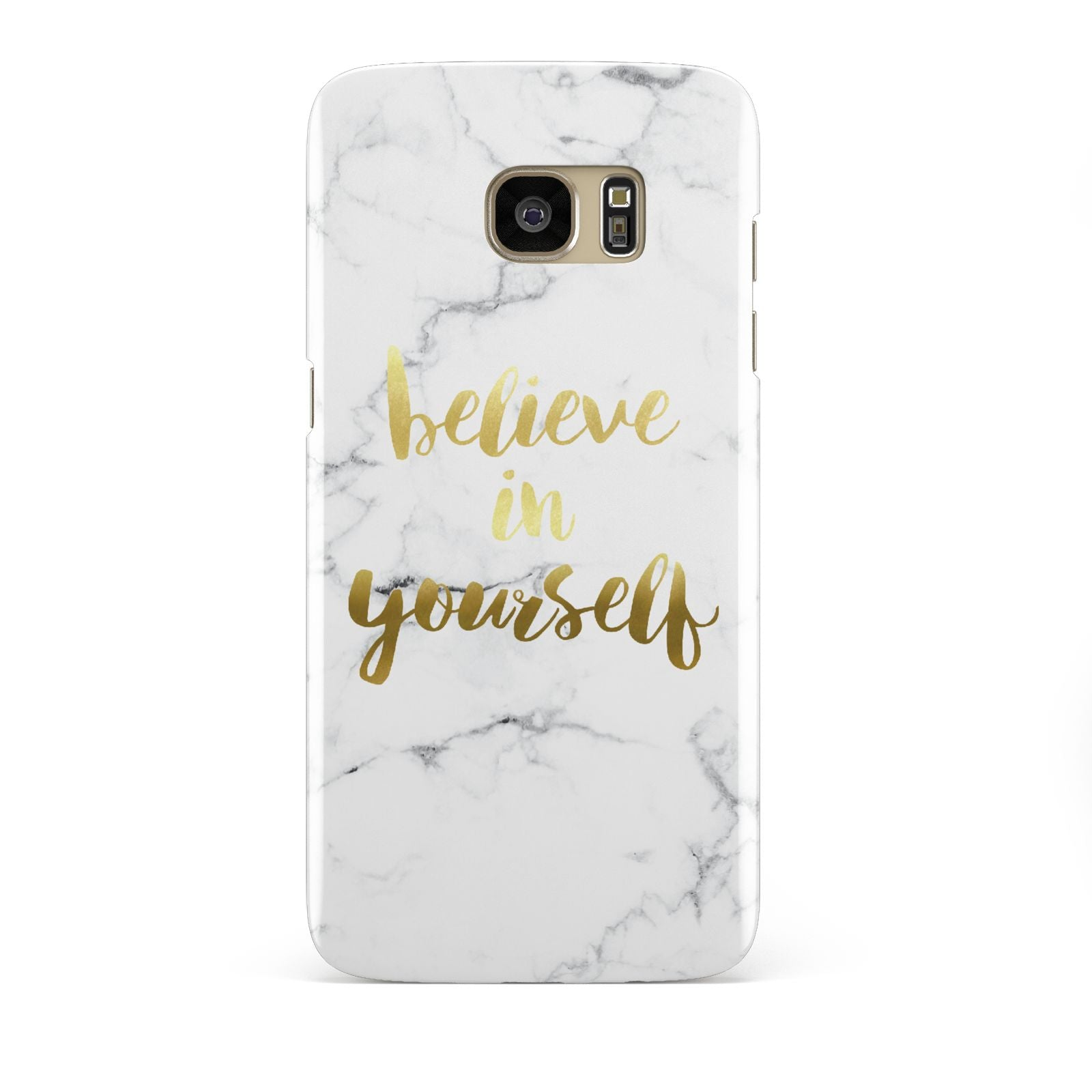 Believe In Yourself Gold Marble Samsung Galaxy S7 Edge Case