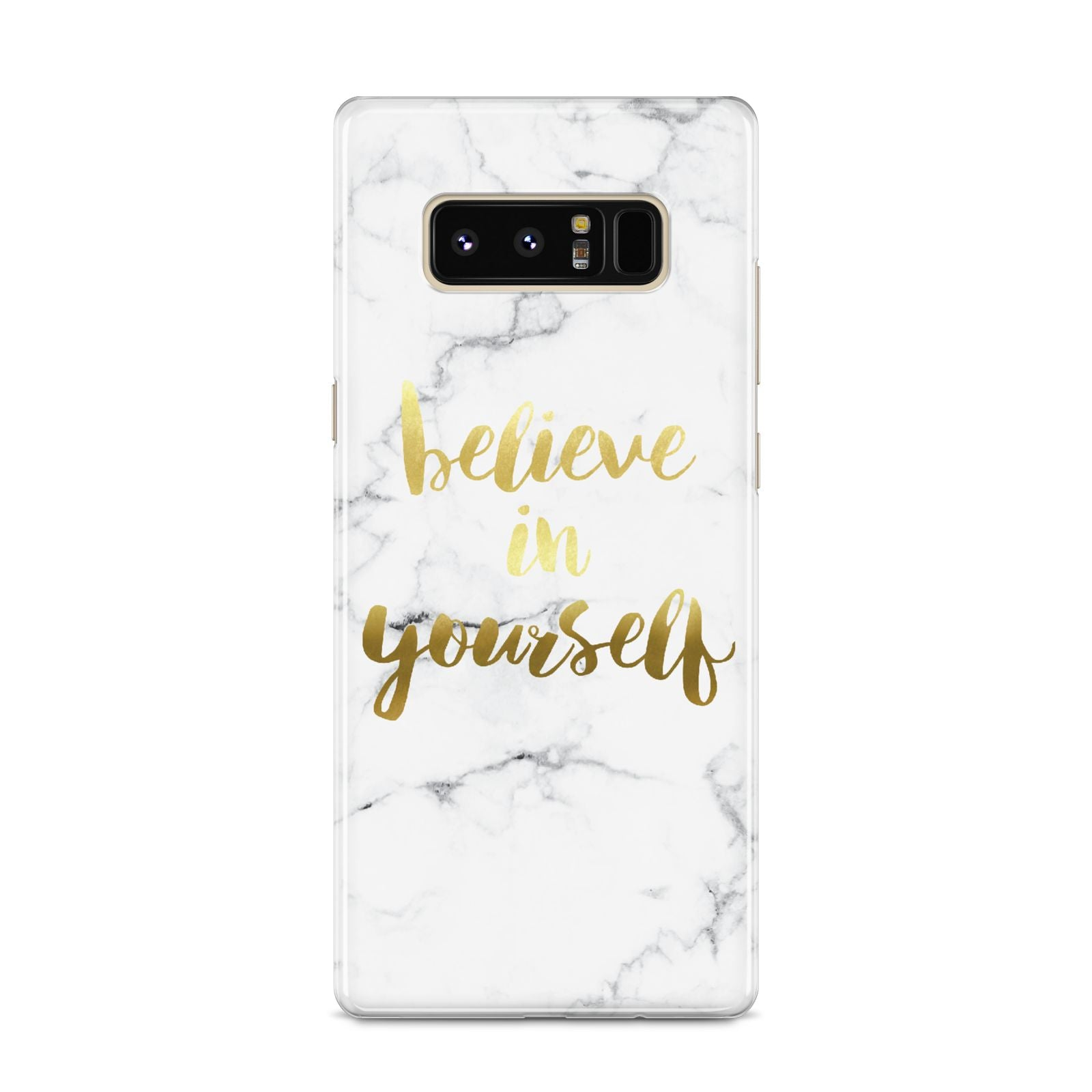 Believe In Yourself Gold Marble Samsung Galaxy S8 Case