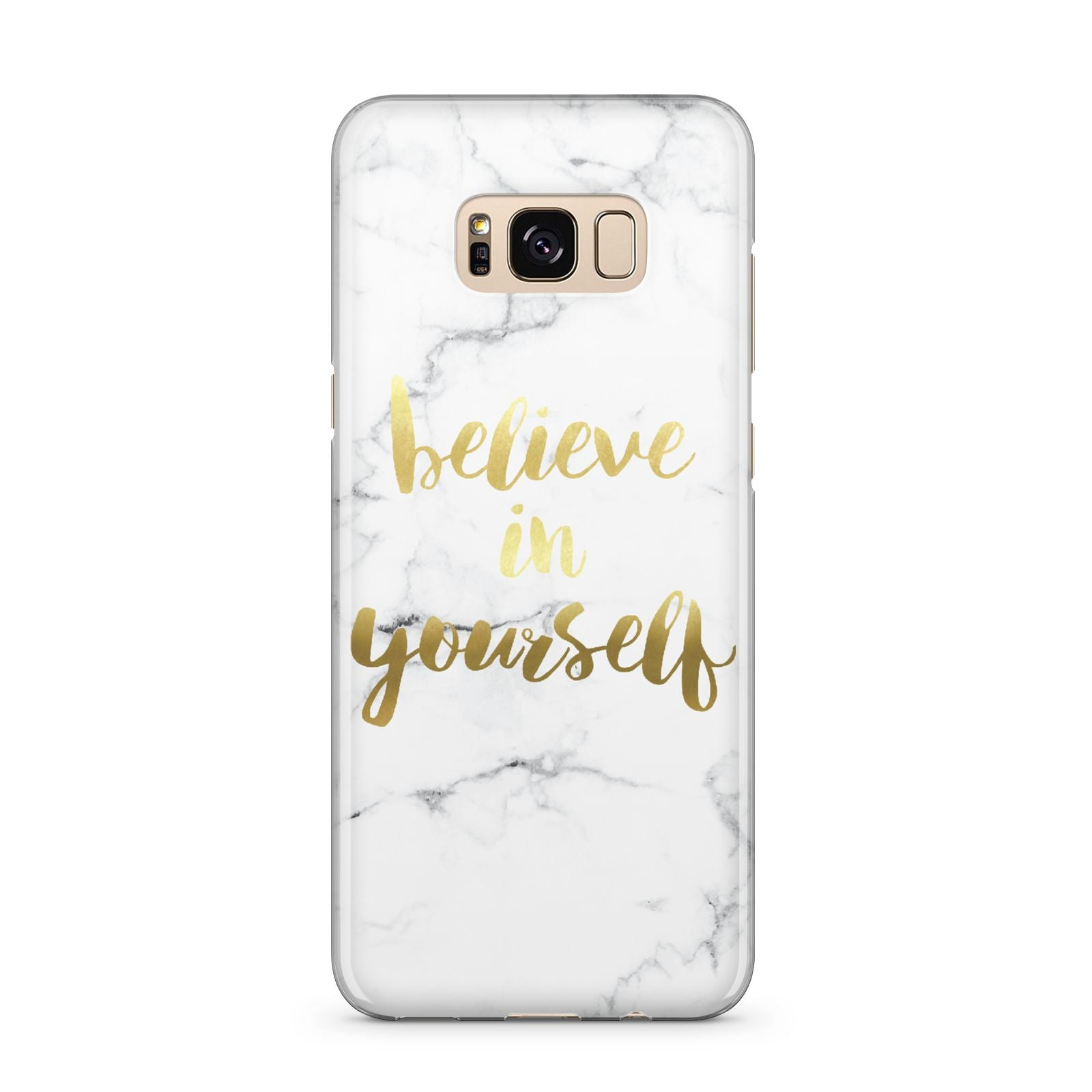 Believe In Yourself Gold Marble Samsung Galaxy S8 Plus Case