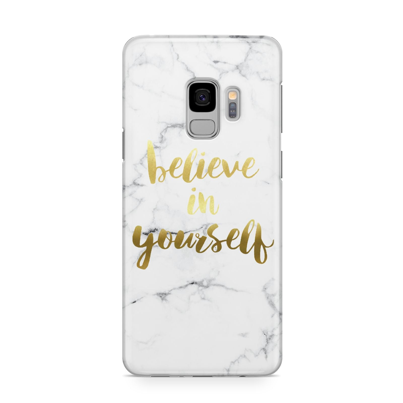 Believe In Yourself Gold Marble Samsung Galaxy S9 Case