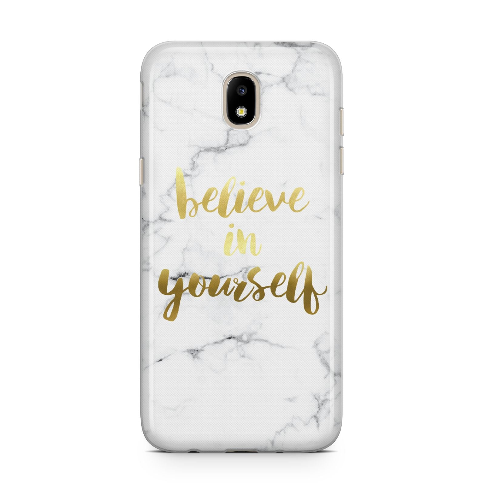 Believe In Yourself Gold Marble Samsung J5 2017 Case