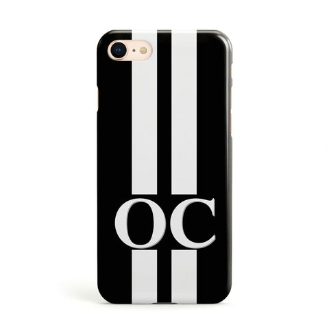 Black Personalised Initials Apple iPhone Case