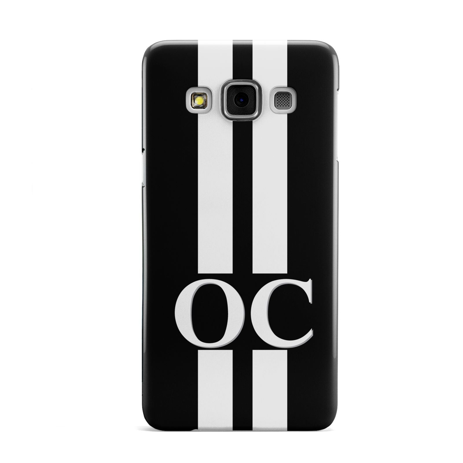 Black Personalised Initials Samsung Galaxy A3 Case