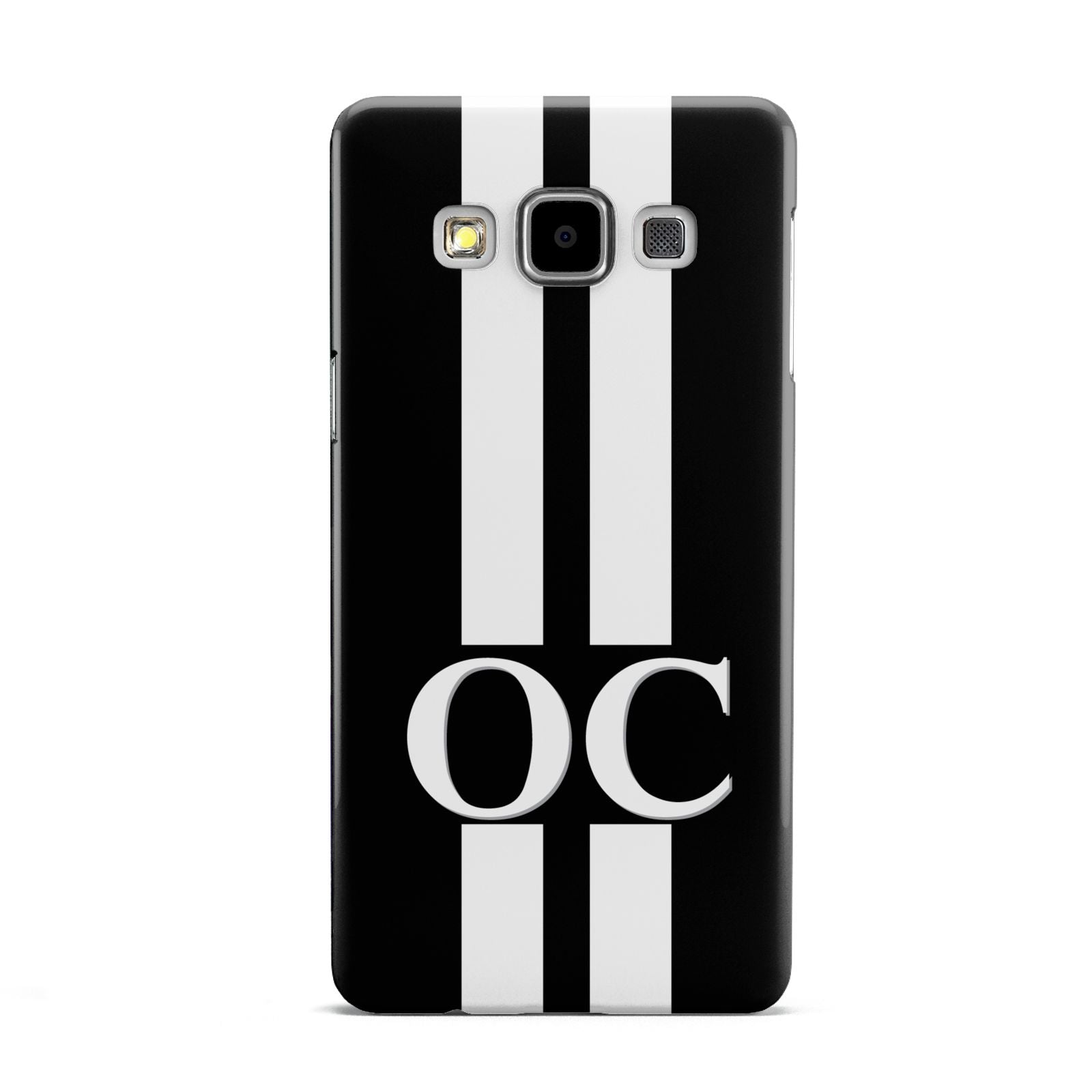Black Personalised Initials Samsung Galaxy A5 Case