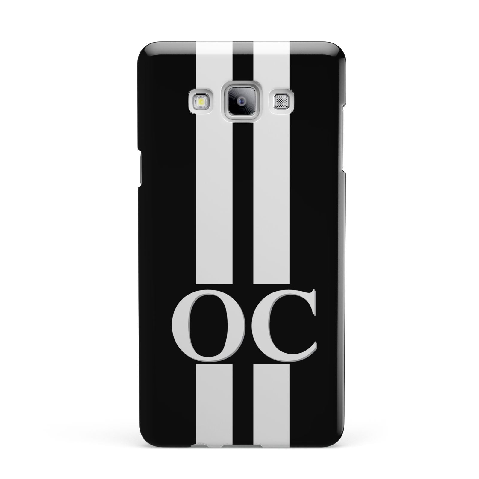 Black Personalised Initials Samsung Galaxy A7 2015 Case