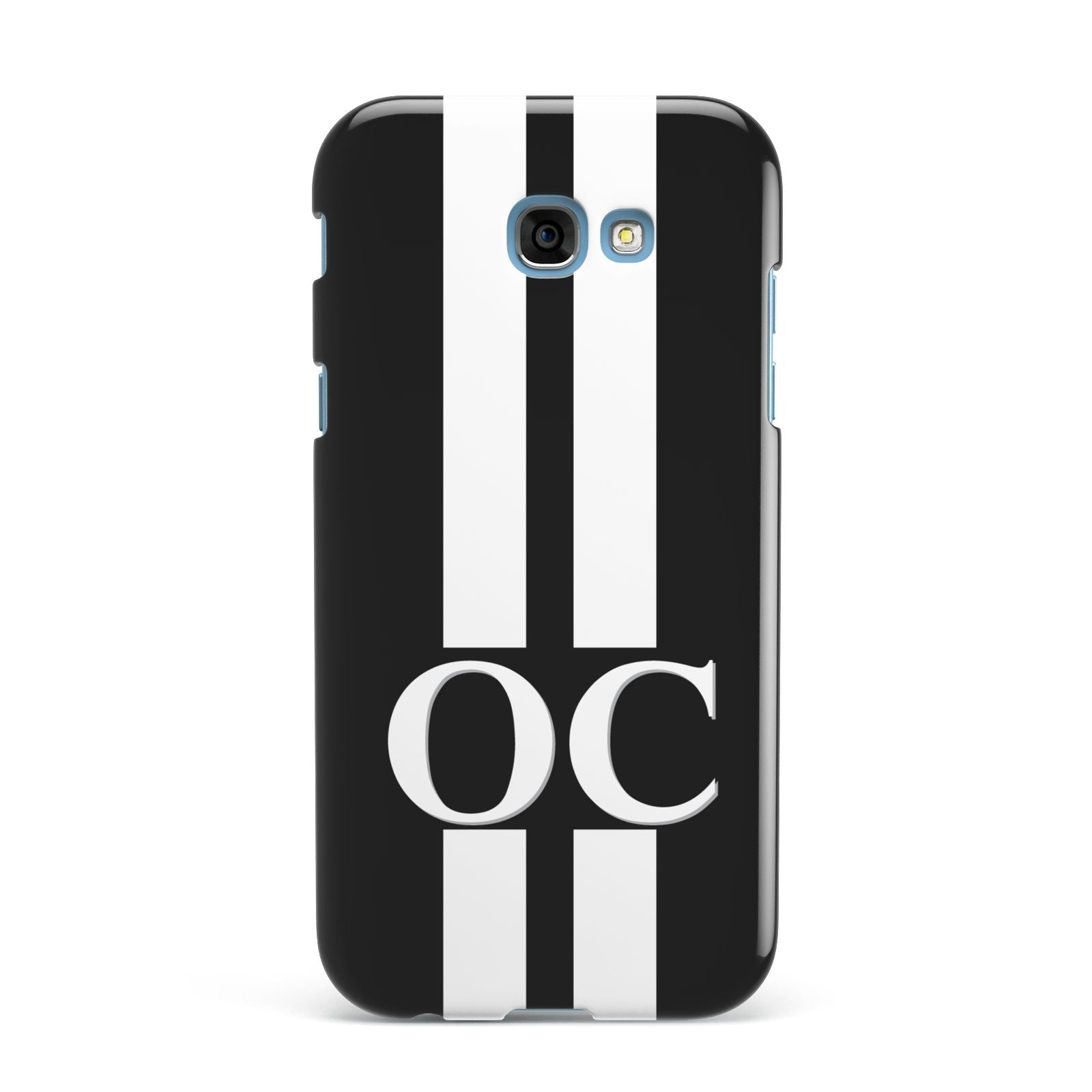 Black Personalised Initials Samsung Galaxy A7 2017 Case