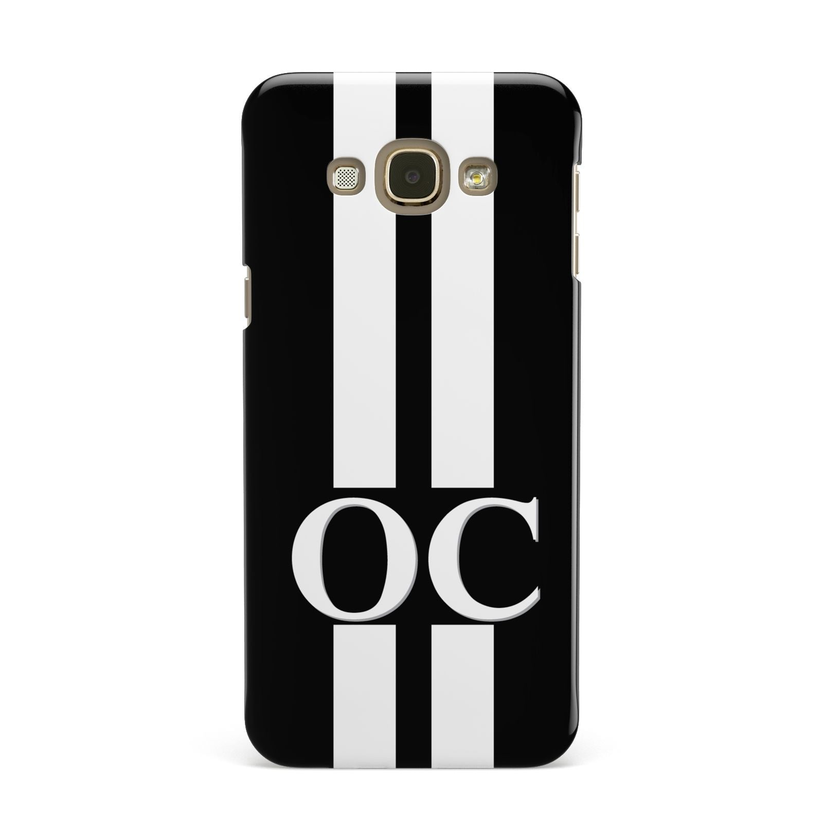 Black Personalised Initials Samsung Galaxy A8 Case