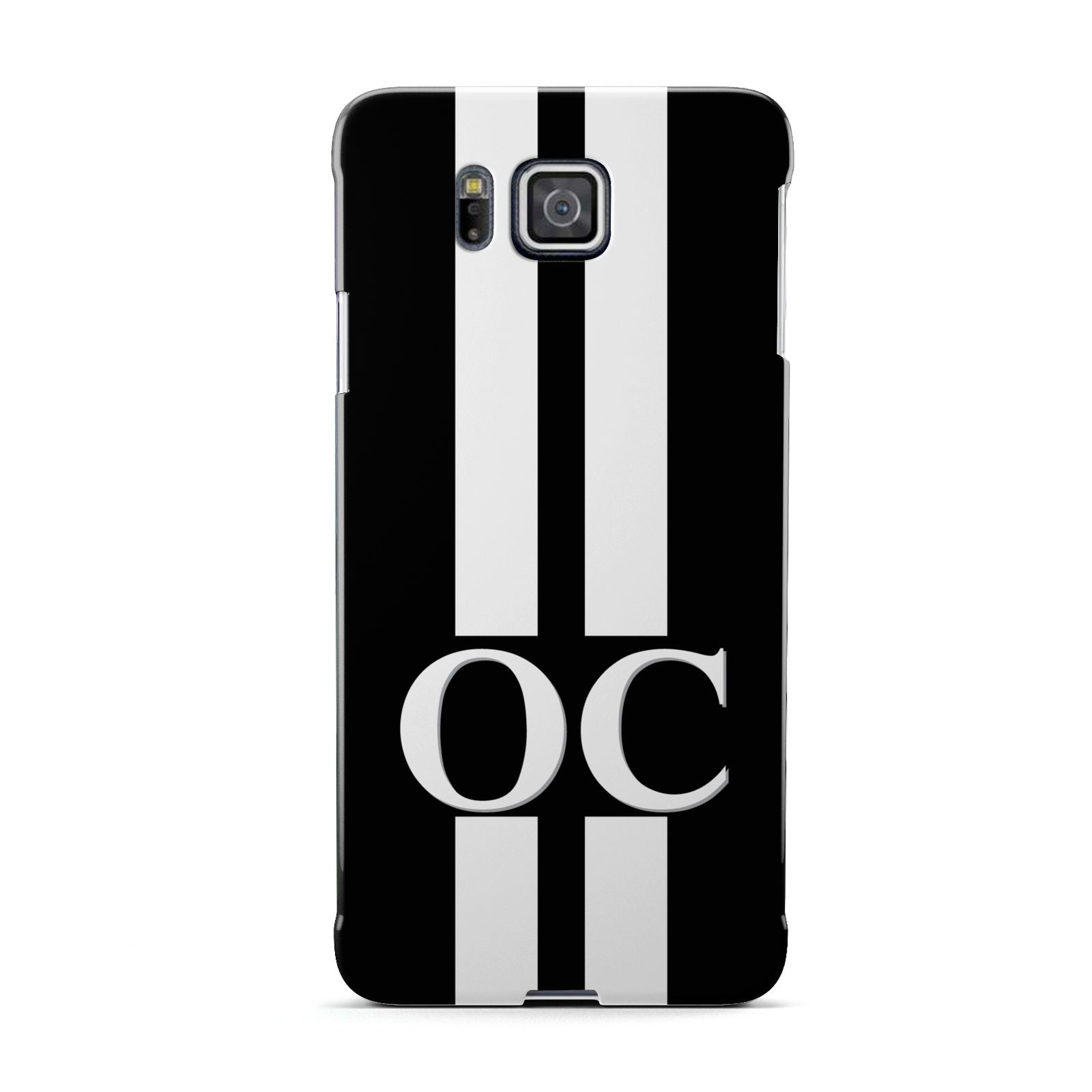 Black Personalised Initials Samsung Galaxy Alpha Case