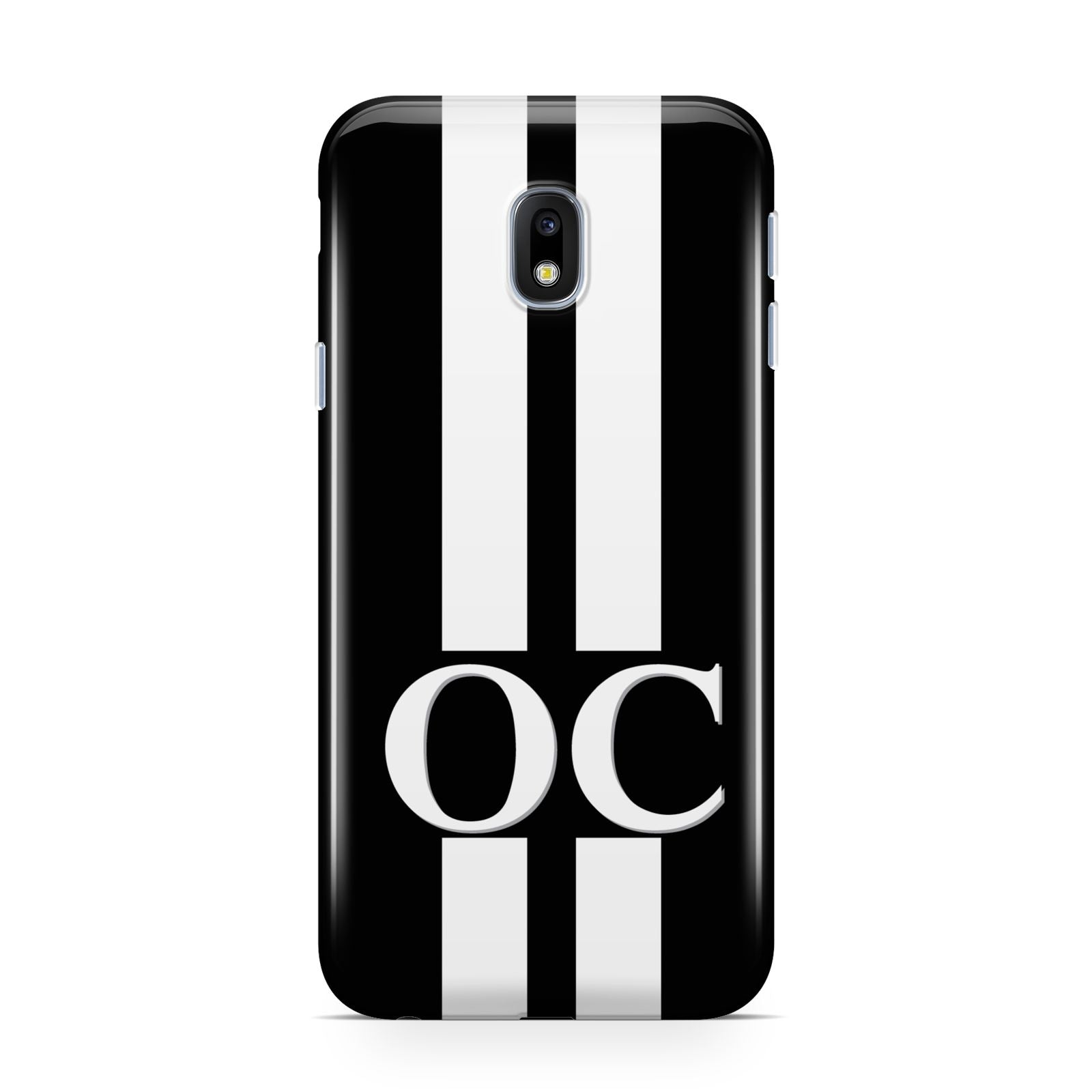 Black Personalised Initials Samsung Galaxy J3 2017 Case
